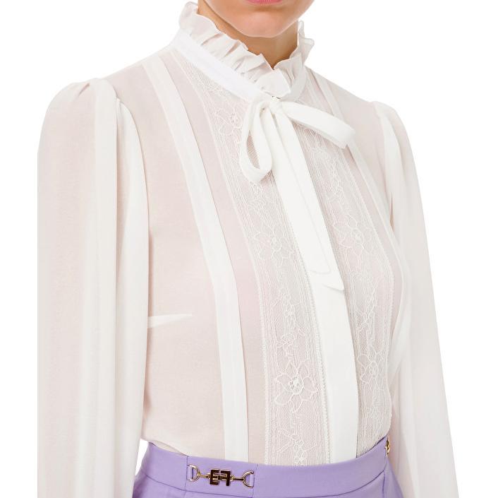 Camicia in georgette e ruches ELISABETTA FRANCHI   Camicia   CA31211E2360