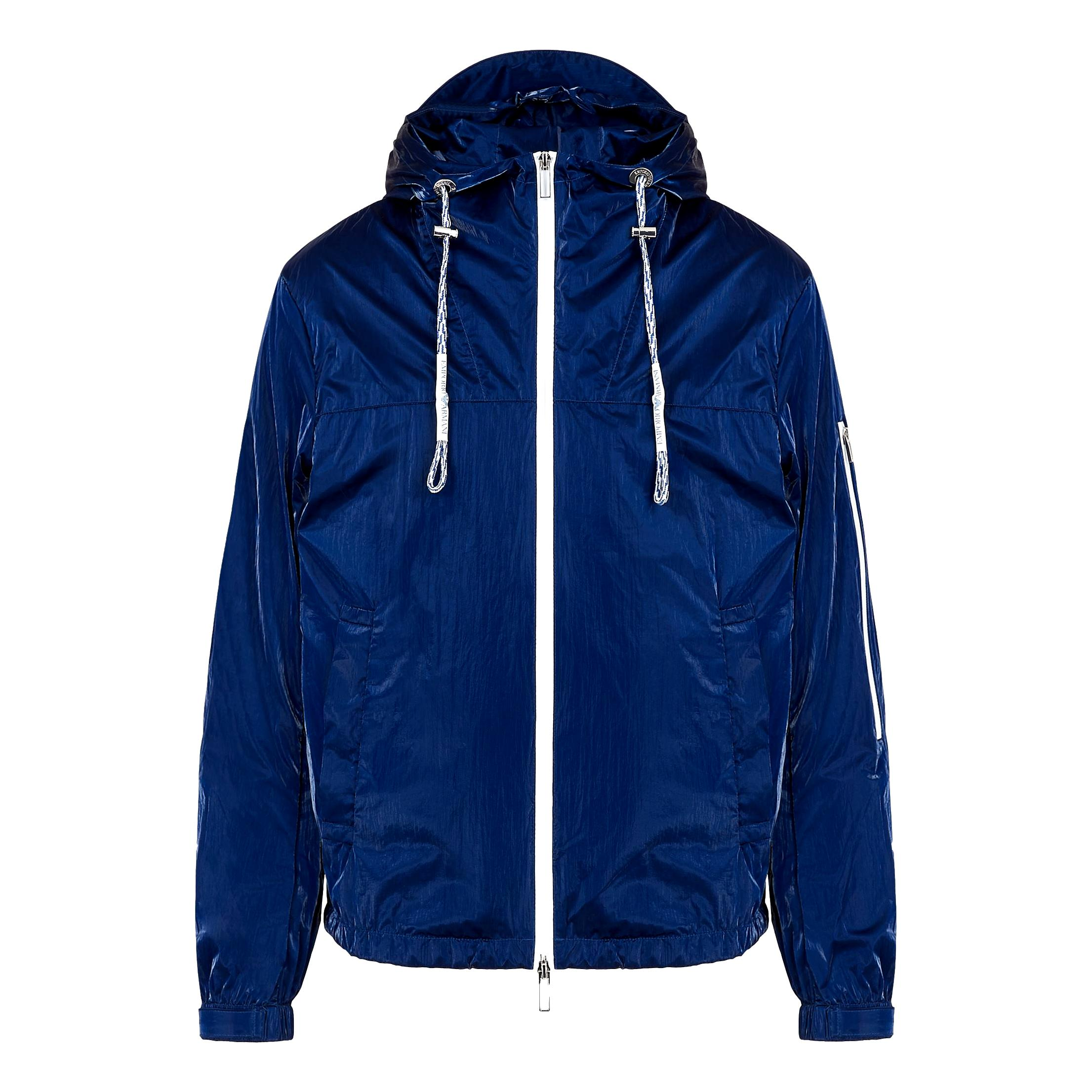 Blouson in nylon glass effect with hood and logo EMPORIO ARMANI |  | 3K1BT3 1NZUZ0921