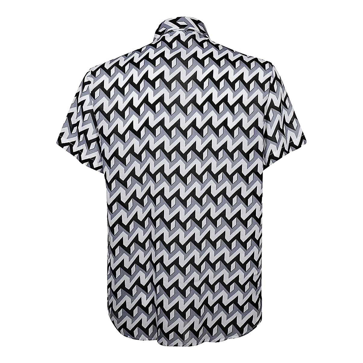 Short-sleeved shirt in optical print modal EMPORIO ARMANI |  | 3K1CB9 1NYMZF607