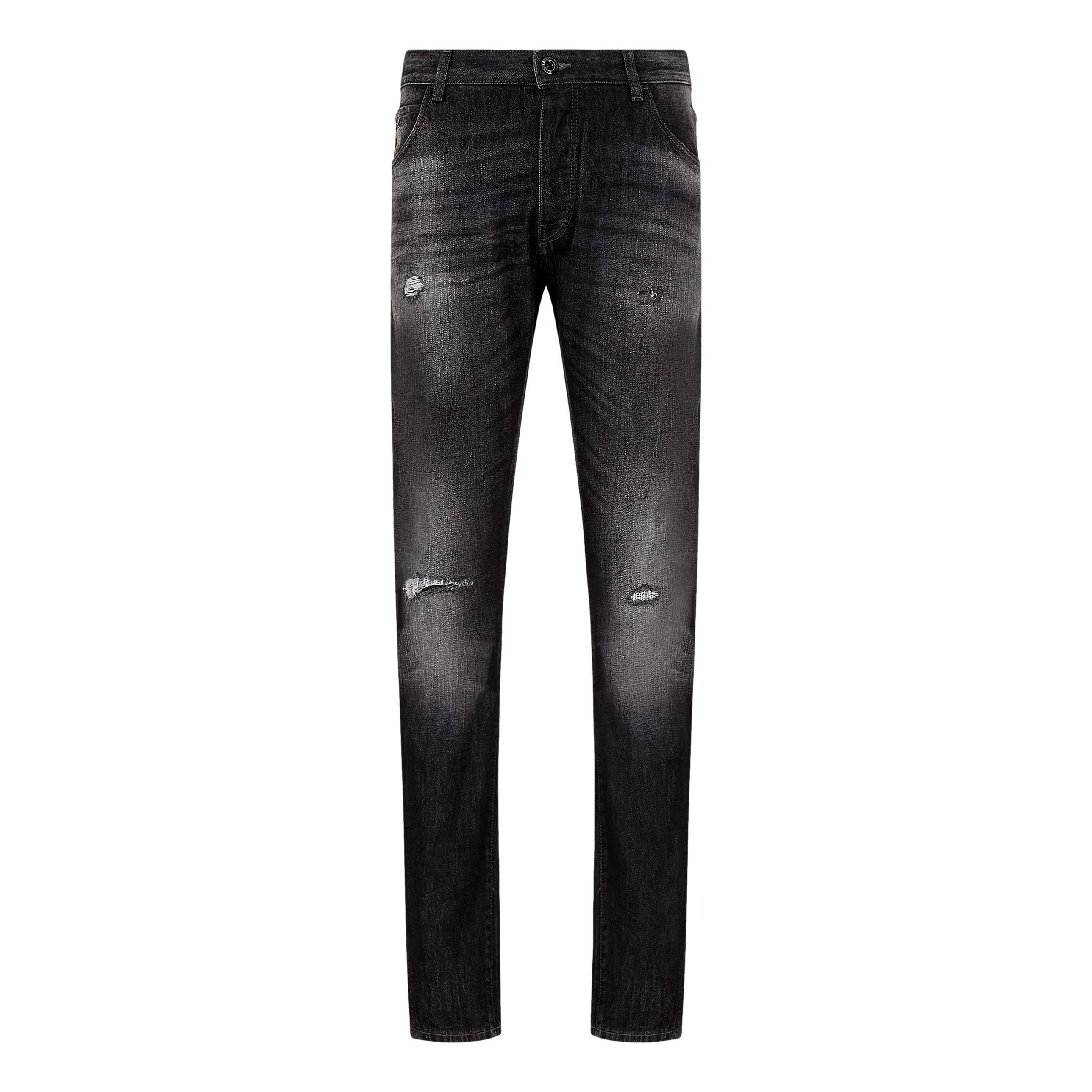 Jeans J09 slim tapered in denim con rotture EMPORIO ARMANI | Jeans | 3K1J09 1DX4Z0006
