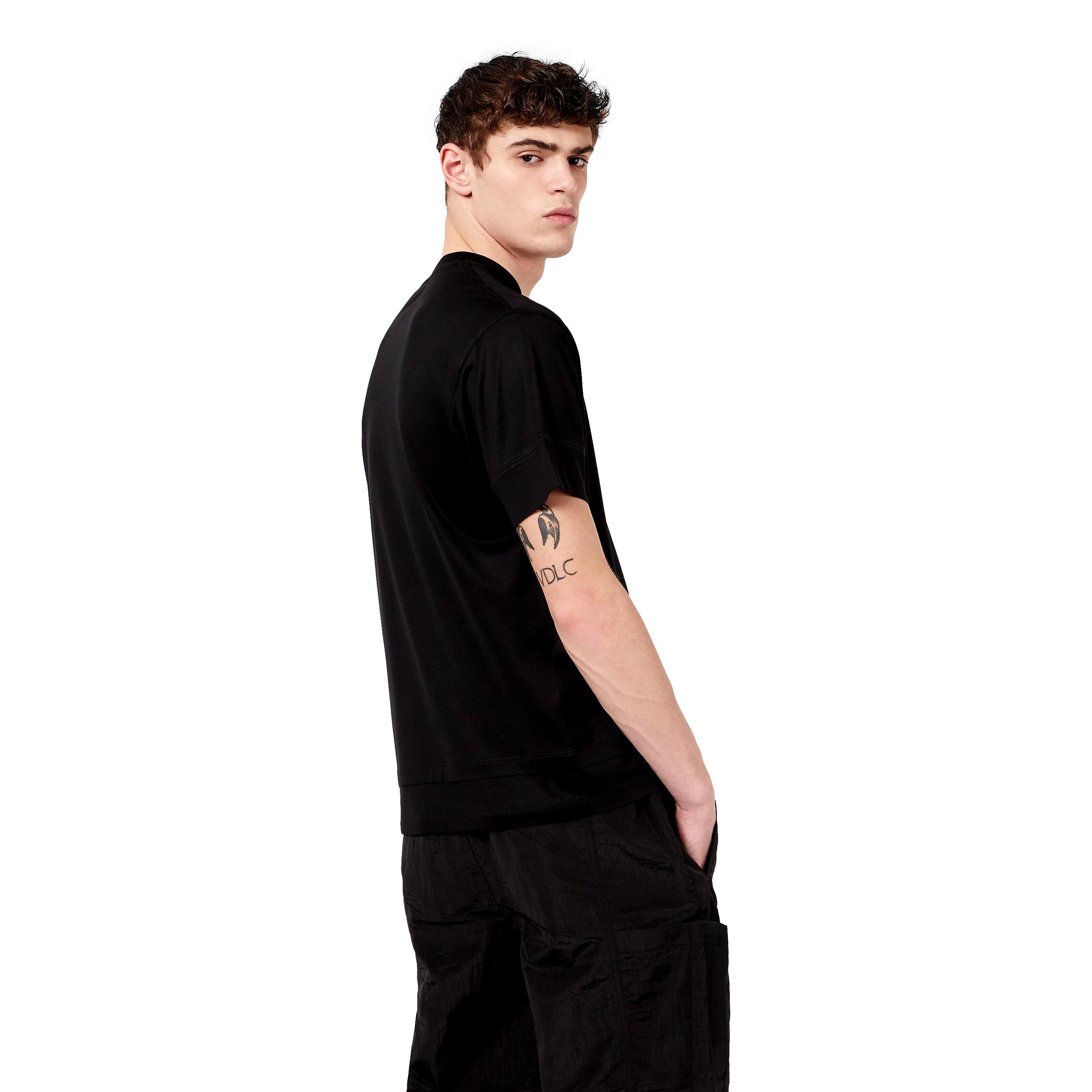 T-Shirt in misto Tencel con tasca applicata EMPORIO ARMANI | T-shirt | 3K1TM2 1JUVZ0999