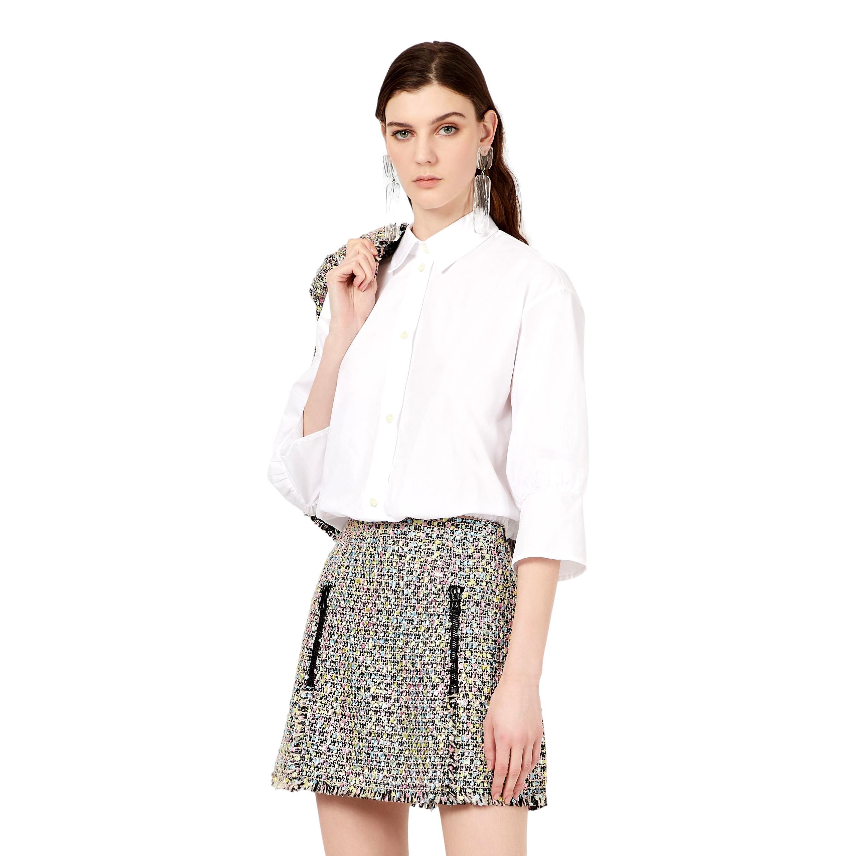 Camicia in popeline con arricciatura in vita EMPORIO ARMANI | Blusa | 3K2C68 2N0FZ0100