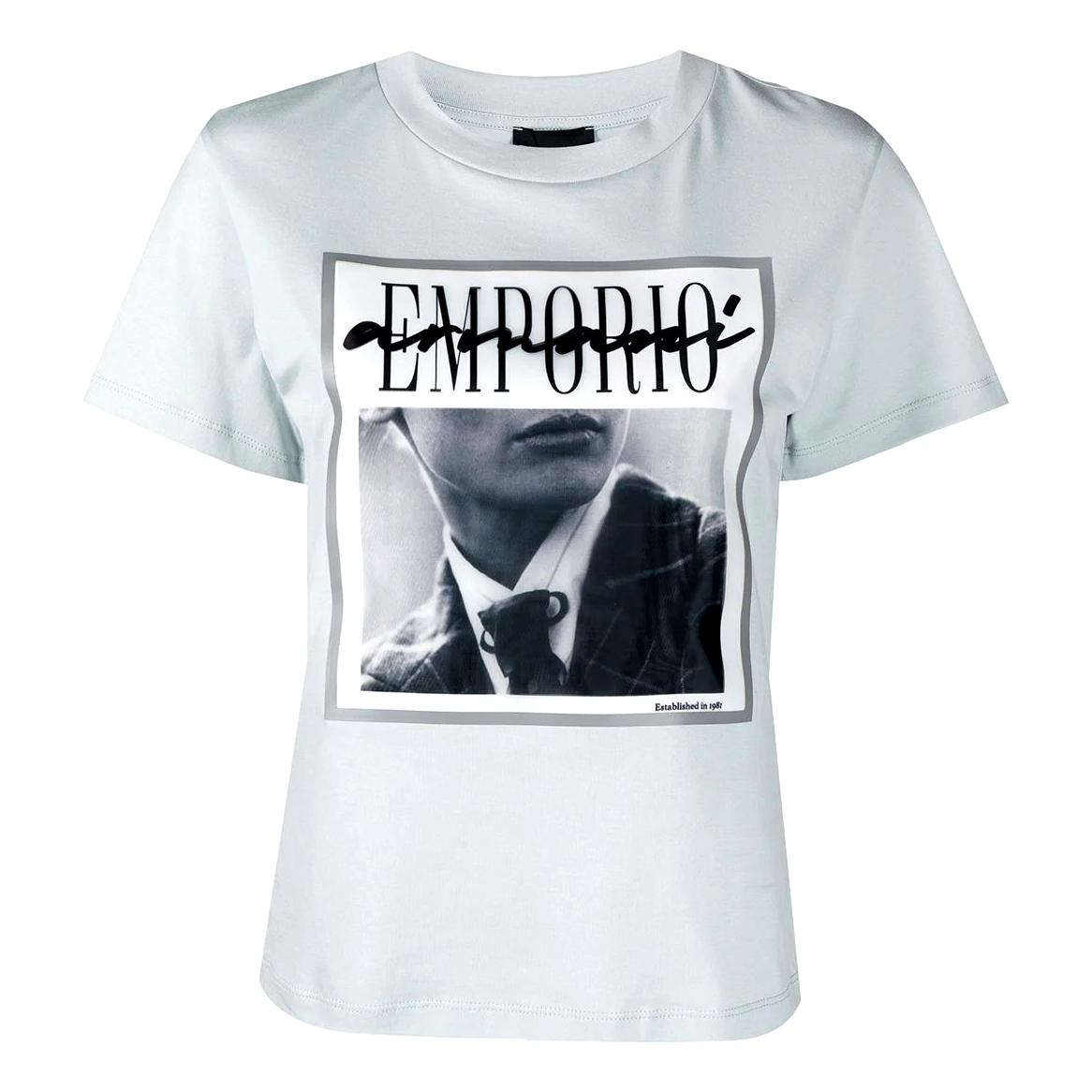 T-Shirt with photo print on 3D effect organza EMPORIO ARMANI |  | 3K2T7I 2J30Z0705
