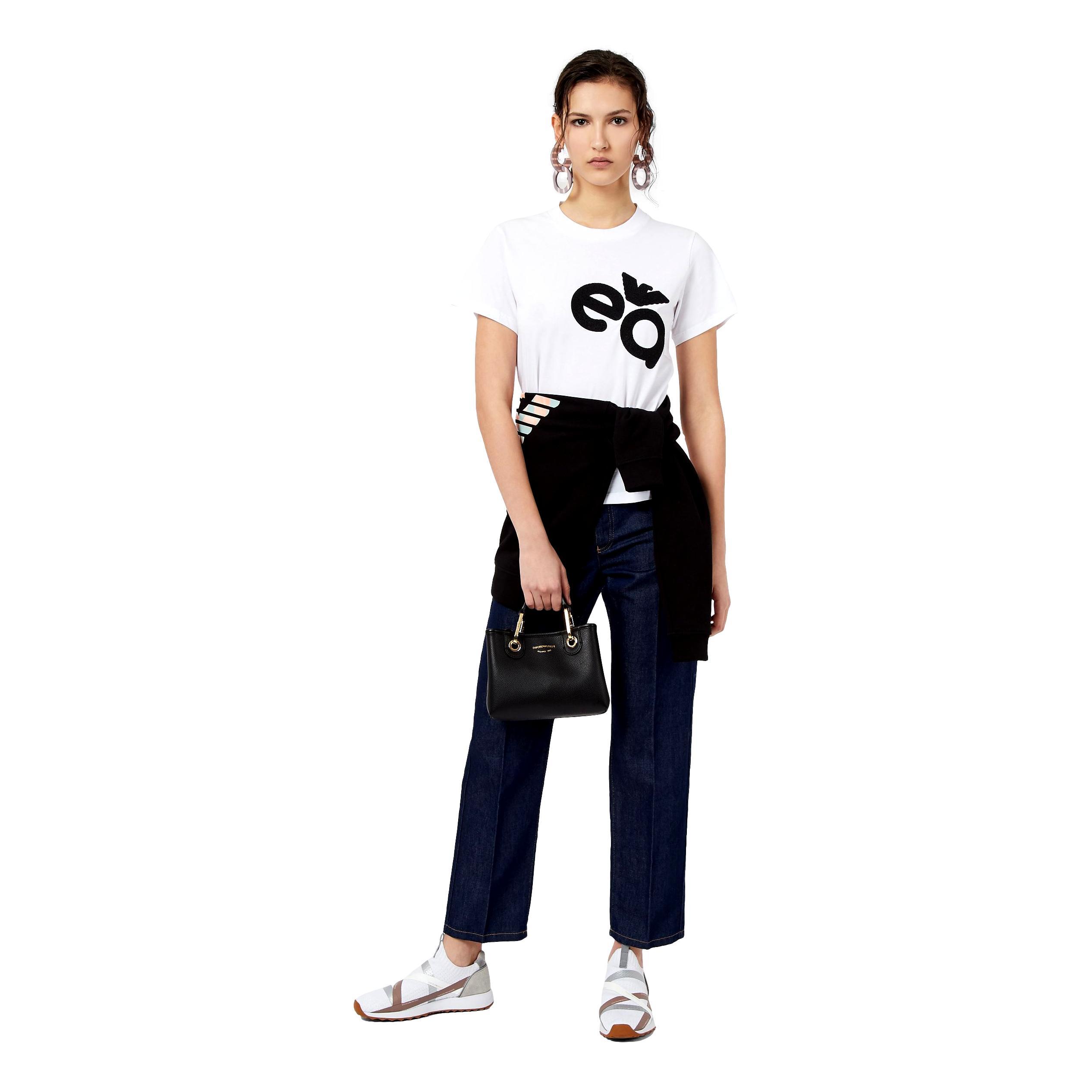 Stretch jersey T-Shirt with caviar logo print EMPORIO ARMANI |  | 3K2T7M 2J07Z0100