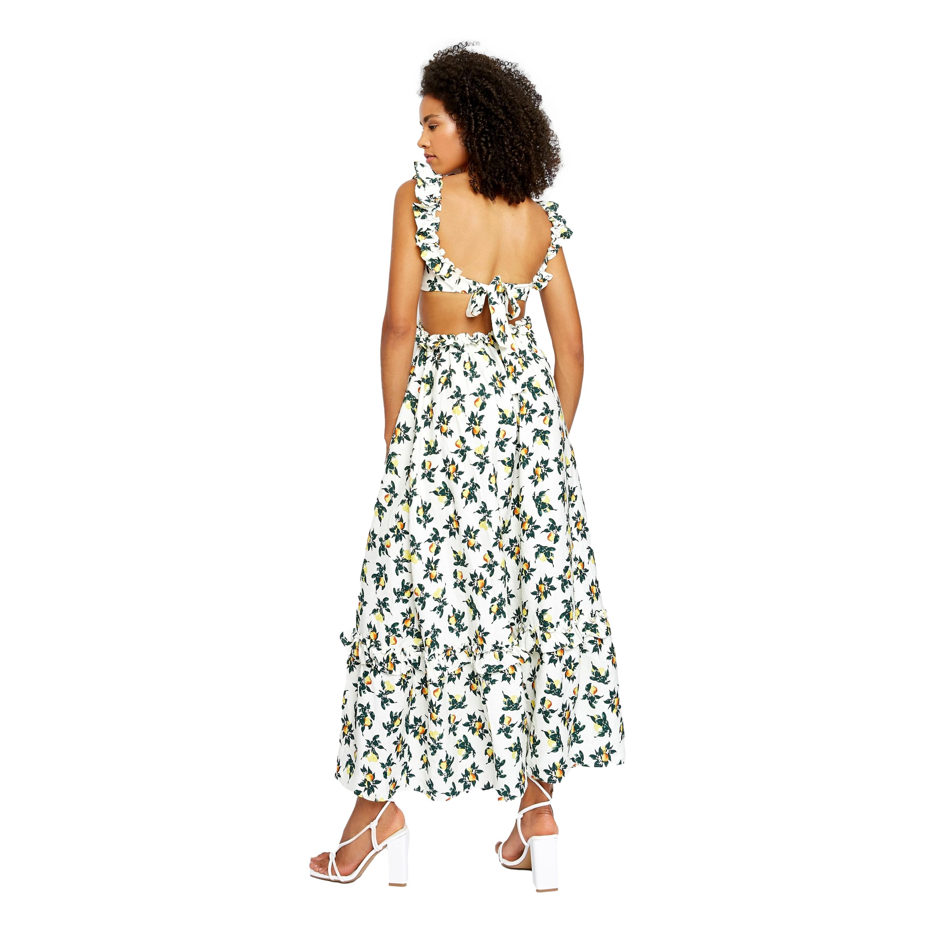 Lemon and Pear Print Maxi Dress GLAMOROUS | Abiti | AN3921LEMON