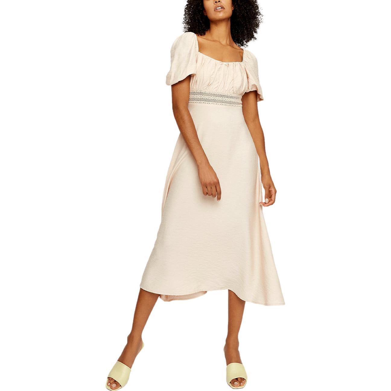 LINEN UK GLAMOOUS DRESS GLAMOROUS      AN3929NUDE