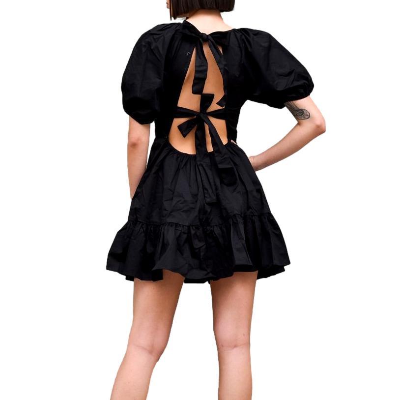 Black Ruffle Skater Dress GLAMOROUS |  | KK0196BLACK