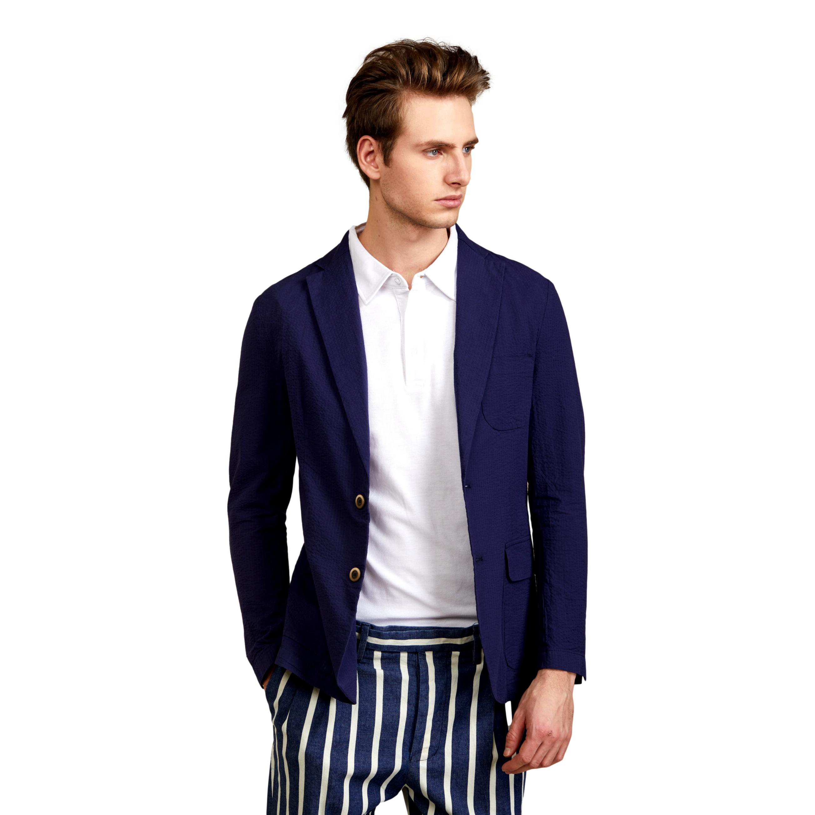 GIACCA CAMICIA IN COTONE SEERSUCKER OUTFIT | Blazer | OF1S2S1G010174