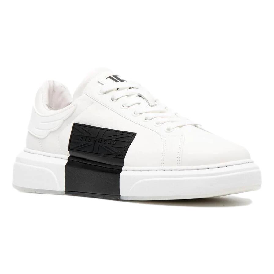 neakers in pelle bianca con blocco nero RICHMOND JOHN | Scarpe | 10105 CPA