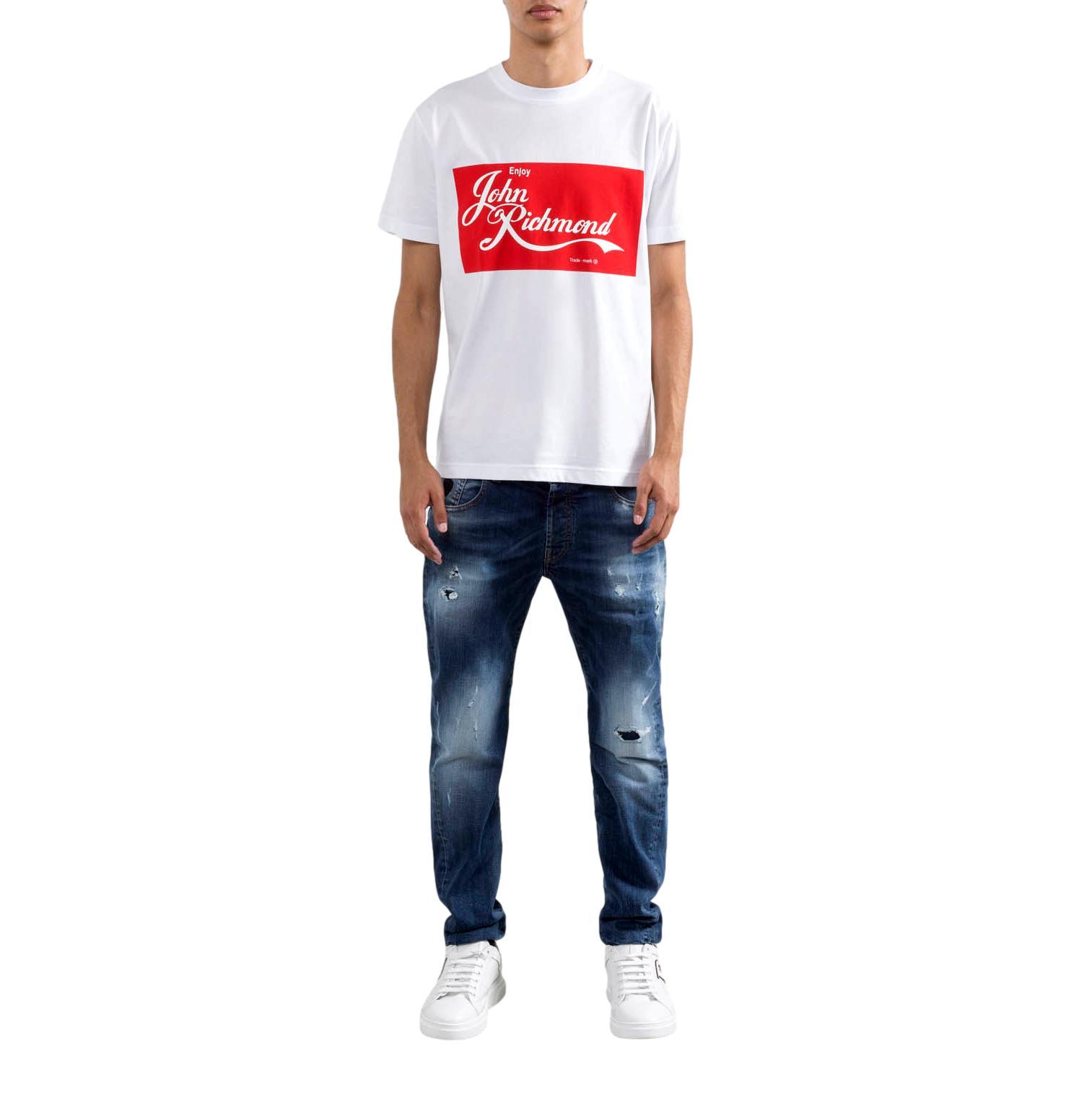 logo  T-shirt sallyanne RICHMOND JOHN | T-shirt | RMP21078TSA8WHITE