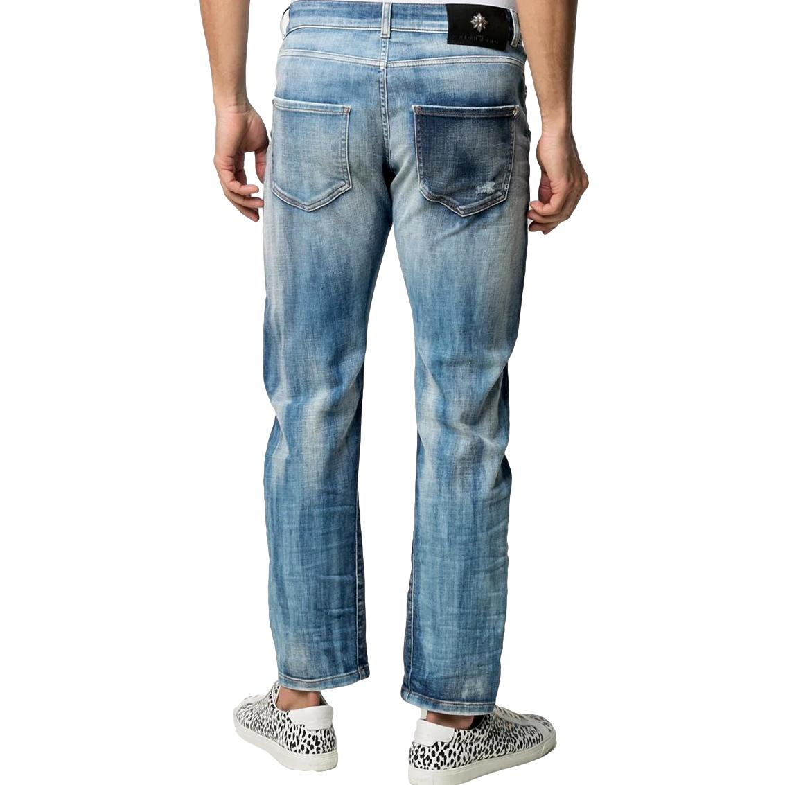 Jeans slim con effetto vissuto galat(mick) RICHMOND JOHN | Jeans | RMP21127JE9GD.BLUE
