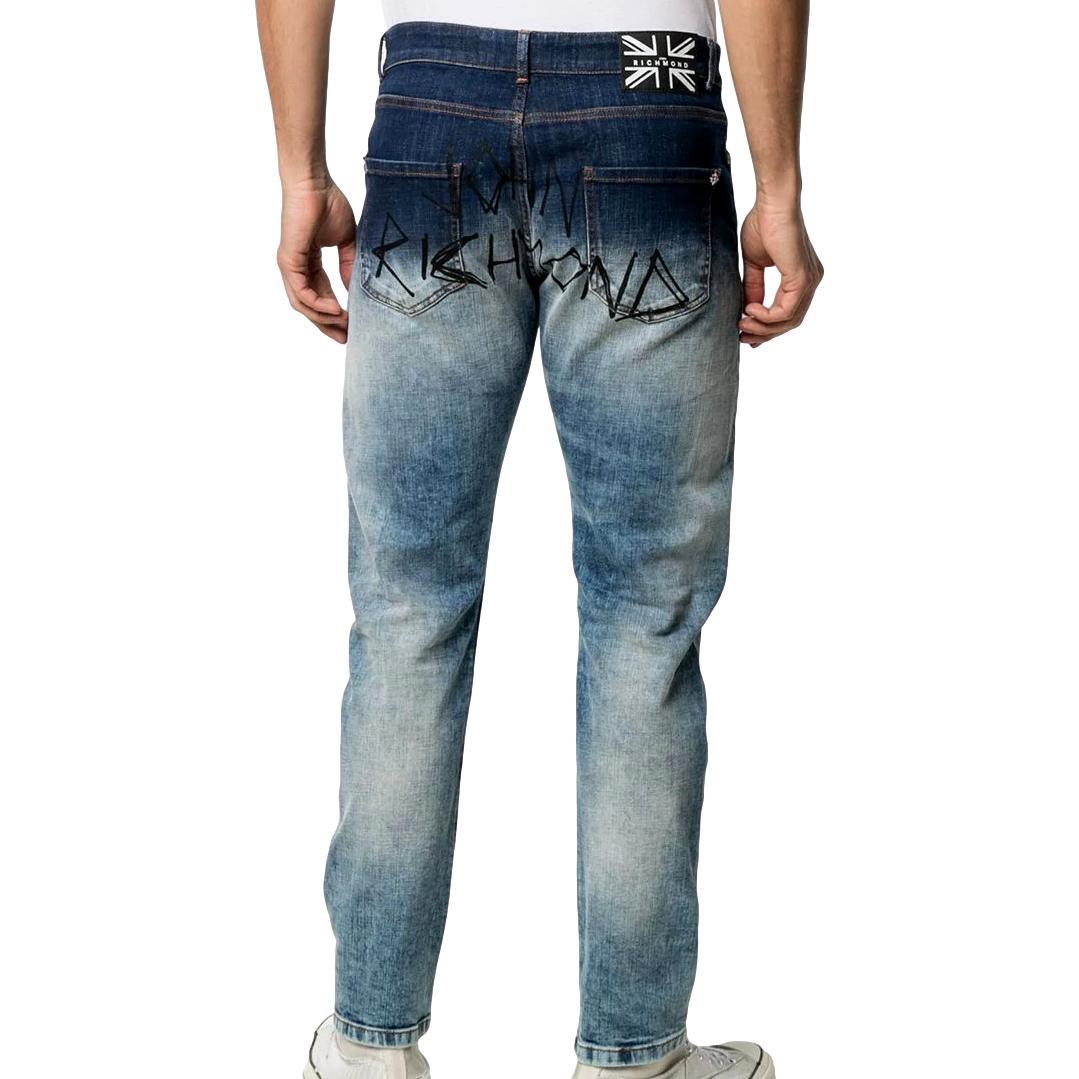 Slim jeans with a worn effect merryt(mick) RICHMOND JOHN |  | RMP21128JE9GD.BLUE