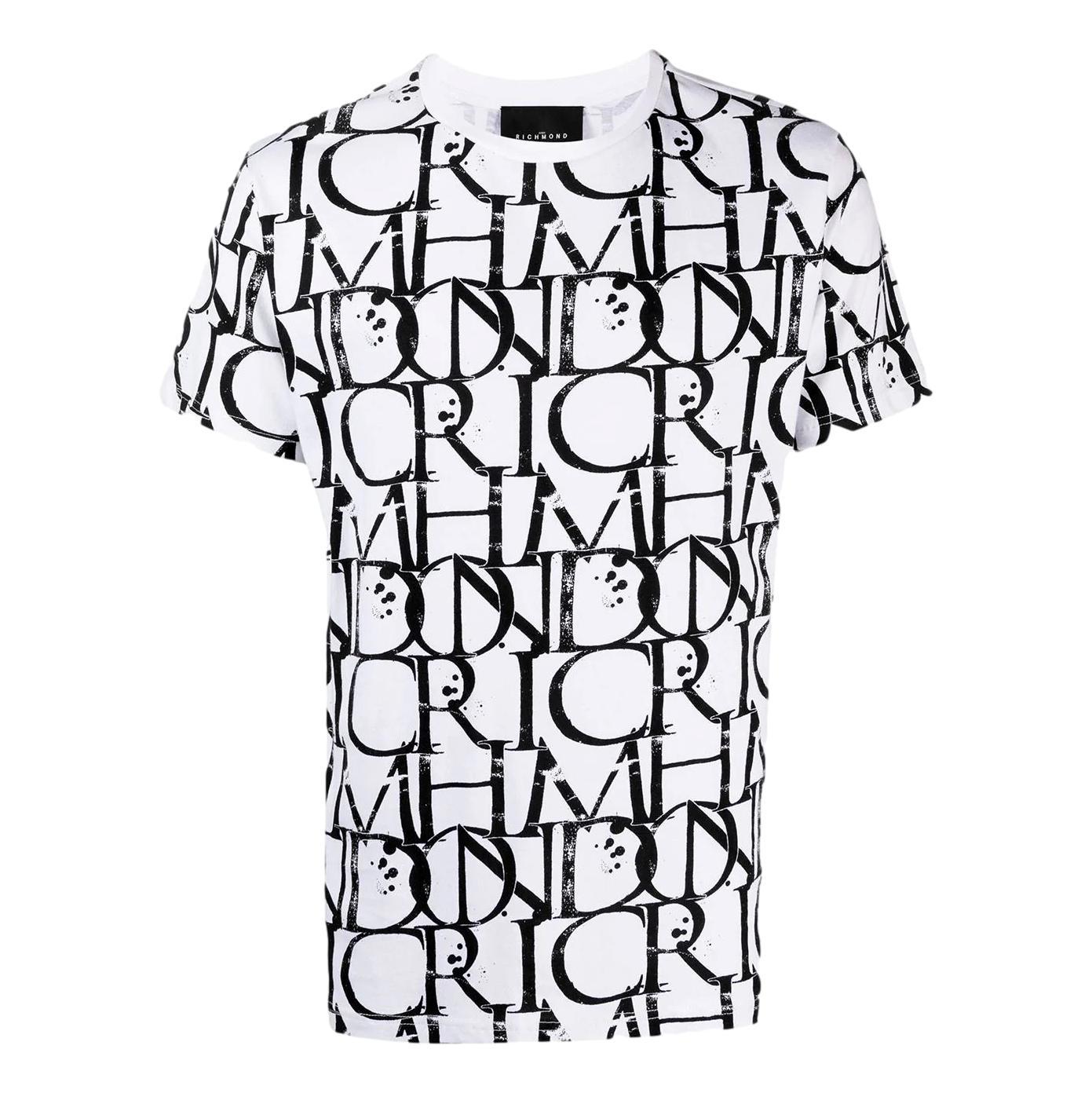 t-shirt harbori RICHMOND JOHN |  | RMP21211TSHBGR.WHT/BLK
