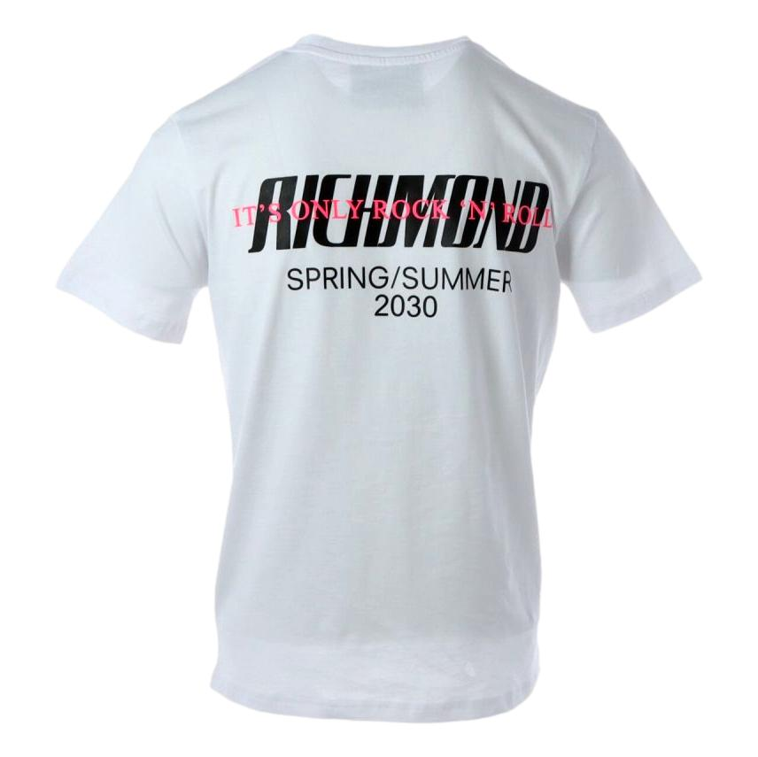 t-shirt minot RICHMOND JOHN | T-shirt | RMP21226TSOFWHITE