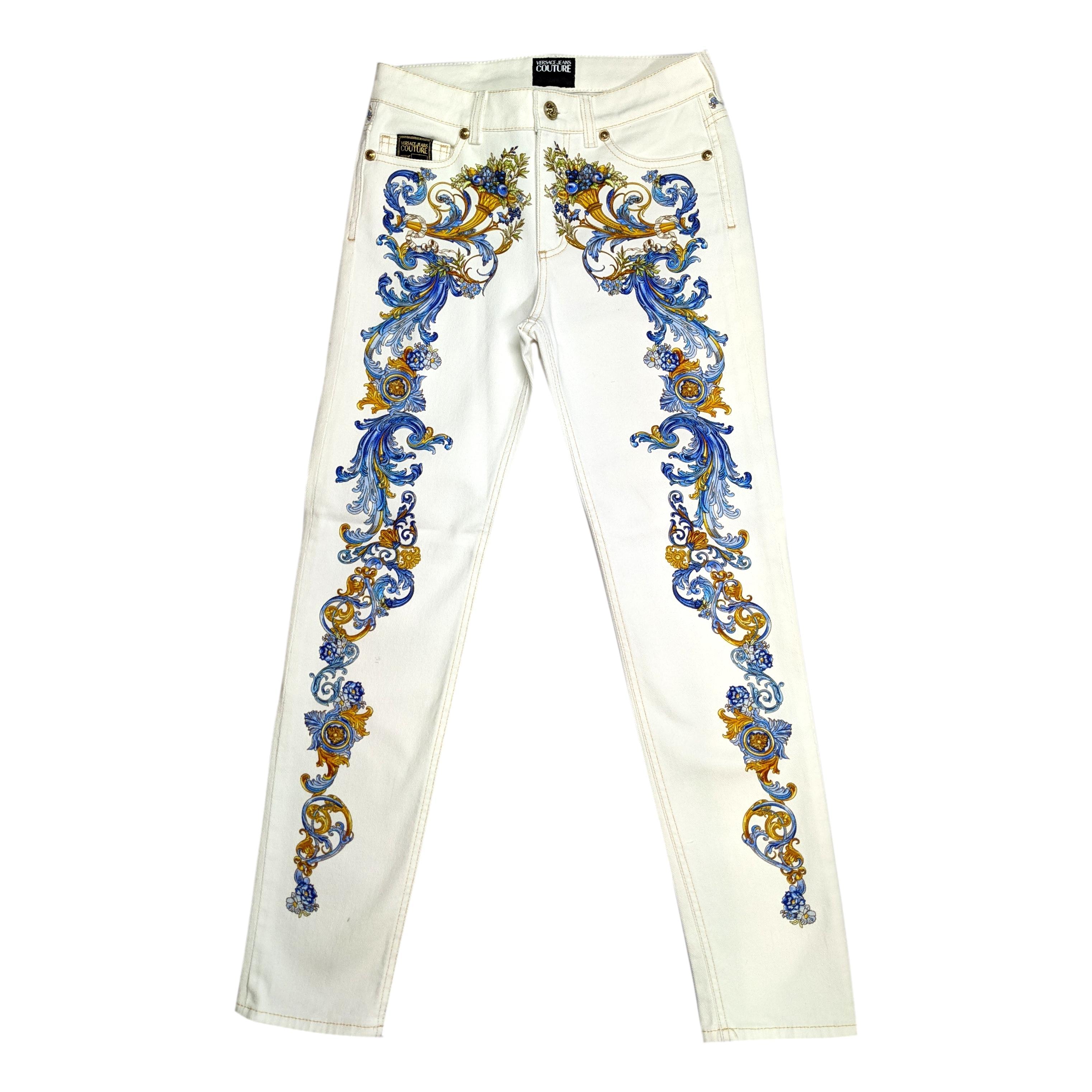 jeans con stampa barocca VERSACE JEANS COUTURE | Pantaloni | A1HWA0SP SS154E70