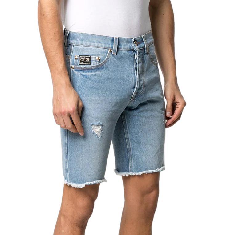 shorts in denim invecchiato VERSACE JEANS COUTURE | Bermuda | A4GWA17I AOK5Z904