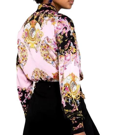 camicia con stampa barocca e logo VERSACE JEANS COUTURE | Camicia | B0HWA601 S0229O16