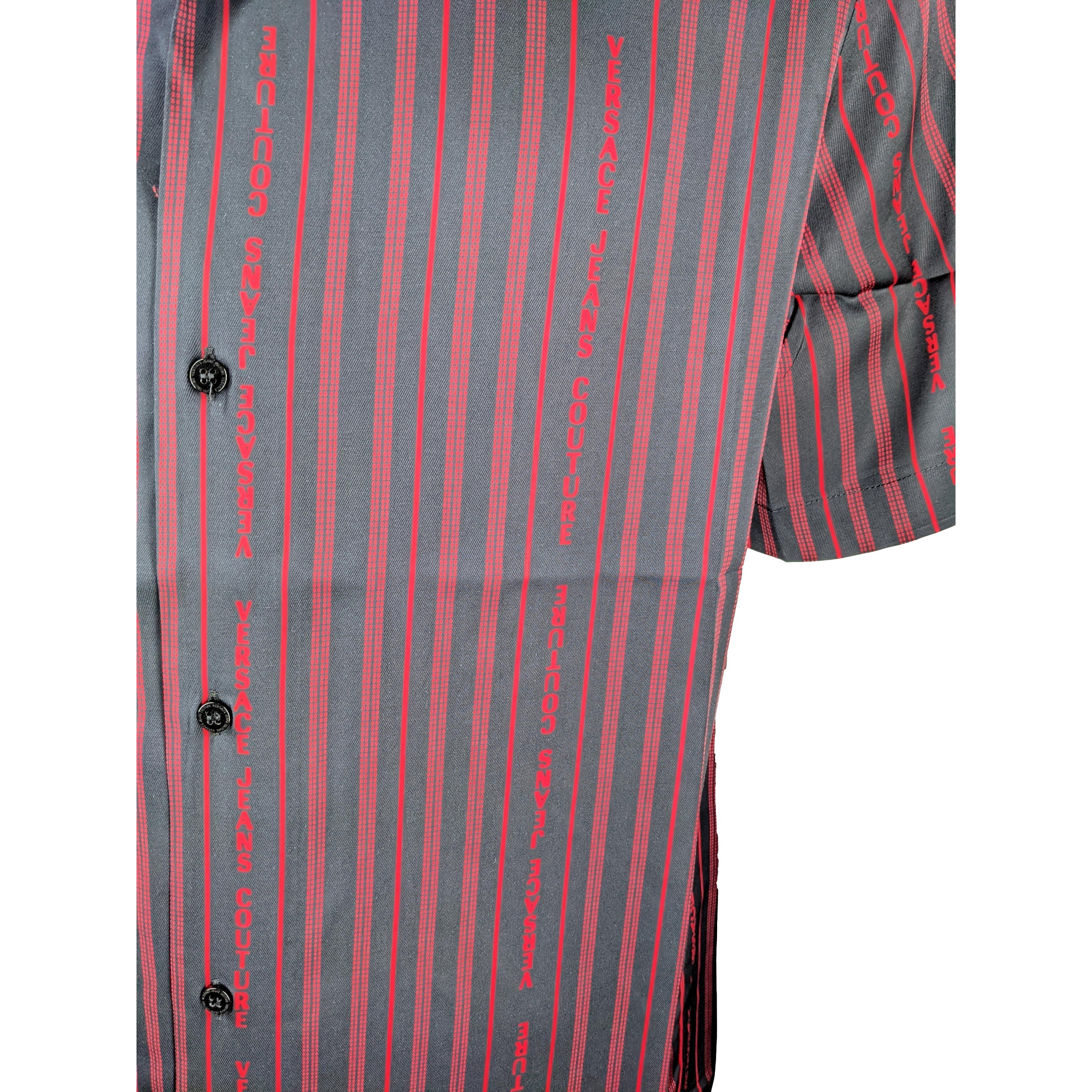 striped logo short-sleeved shirt VERSACE JEANS COUTURE      B1GWA6B1 S0985899