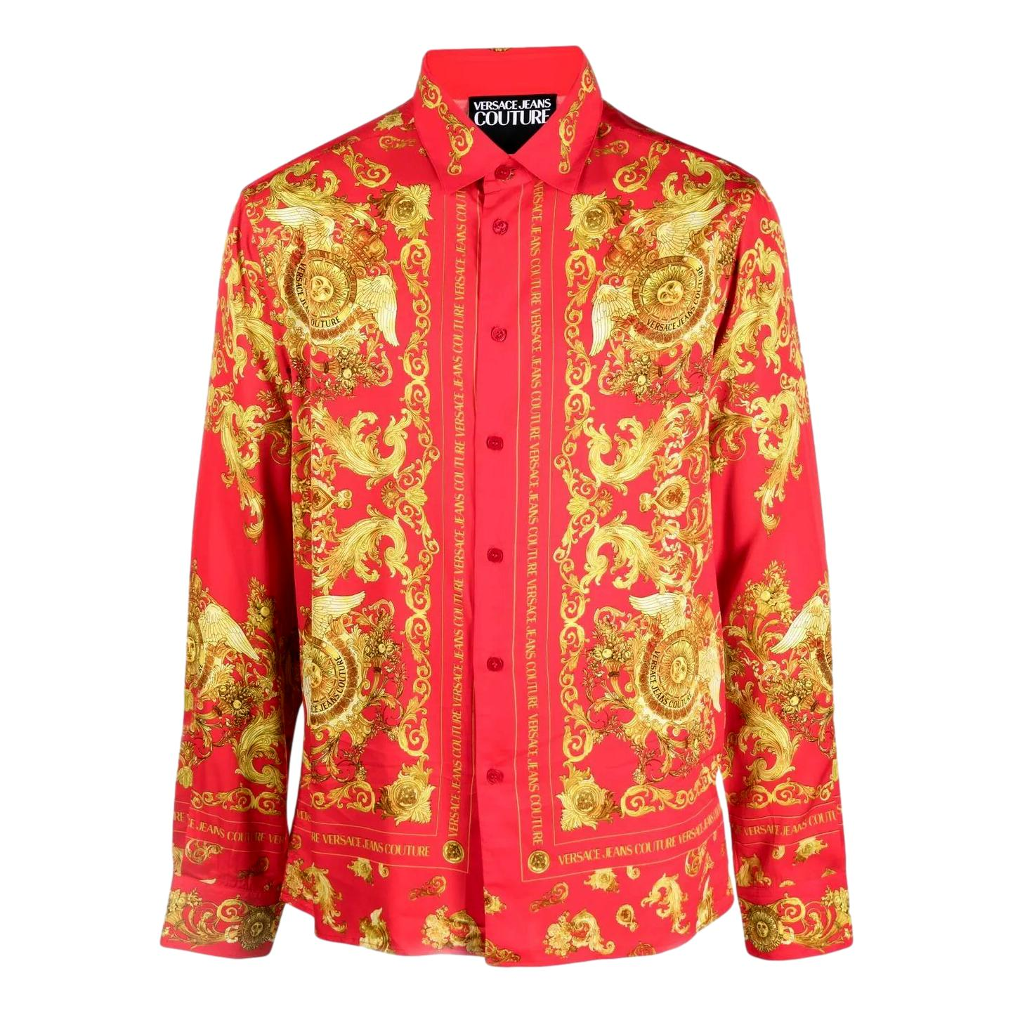 camicia con stampa barocca VERSACE JEANS COUTURE | Camicia | B1GWA6R3 S0273514