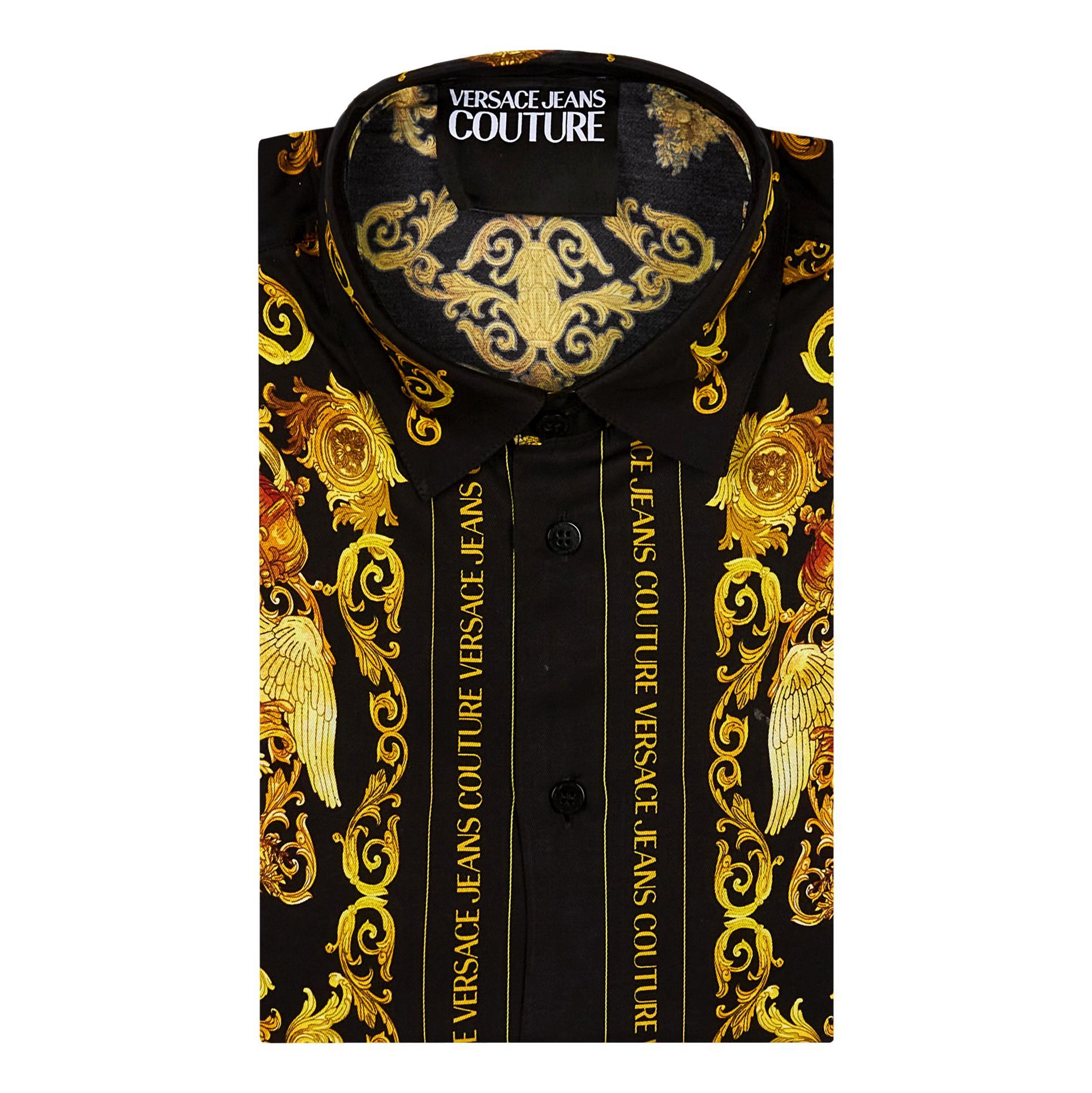 camicia con stampa barocca VERSACE JEANS COUTURE | Camicia | B1GWA6R3 S0273899