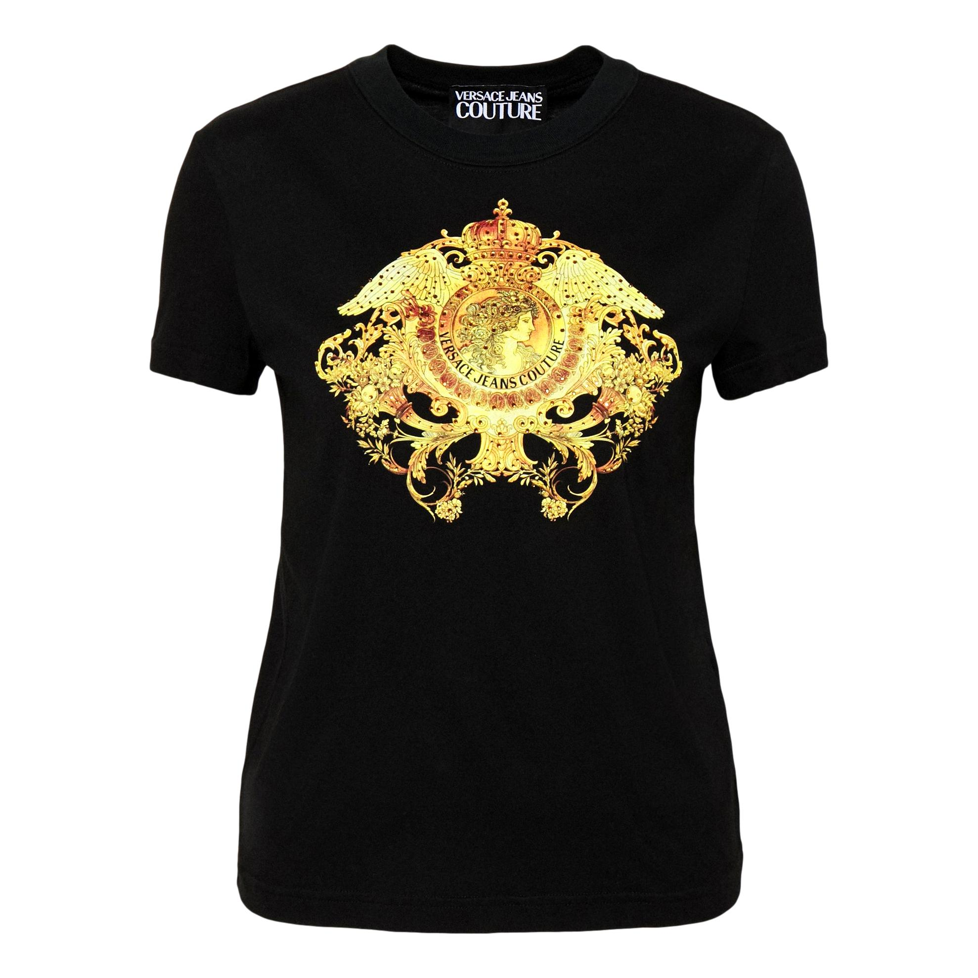 T-shirt con stampa oro VERSACE JEANS COUTURE | T-shirt | B2HWA729 11620899