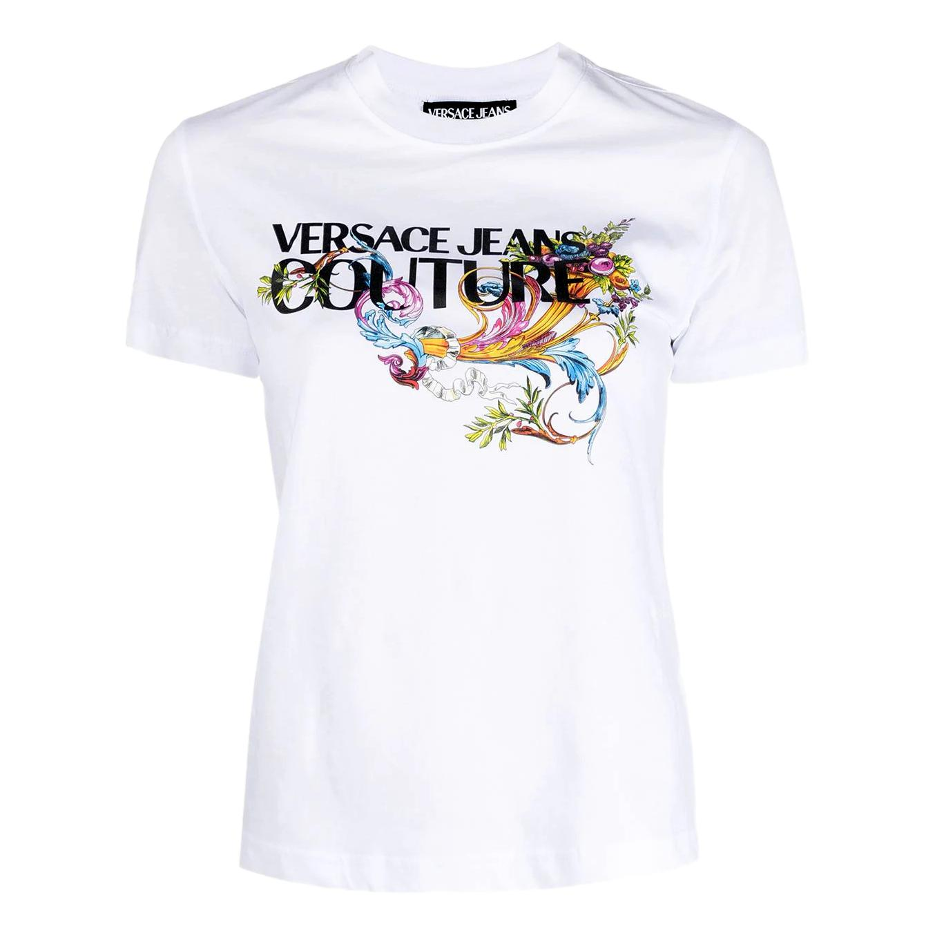 T-shirt con logo colorato VERSACE JEANS COUTURE | T-shirt | B2HWA7KA 30457003
