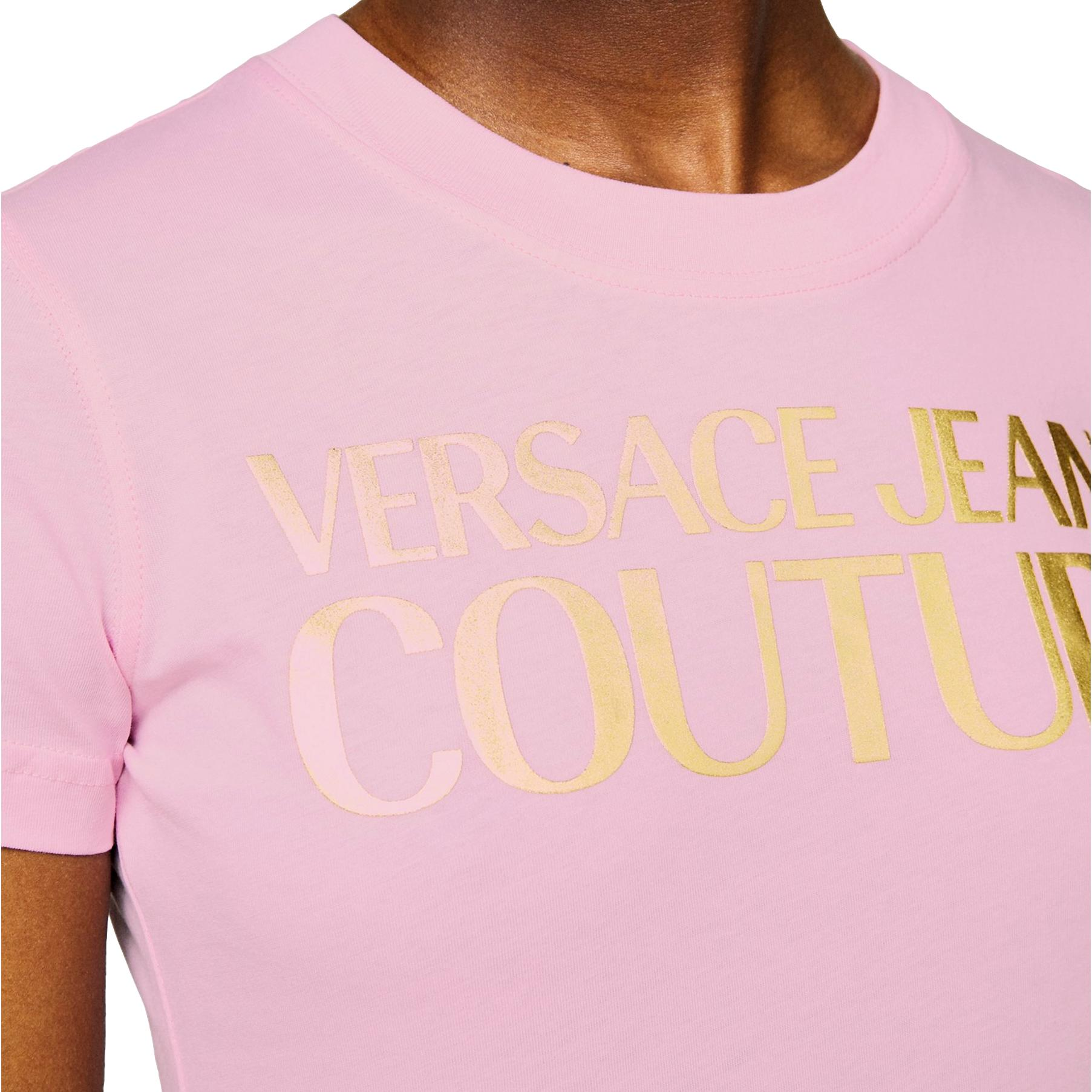 Gold logo T-shirt VERSACE JEANS COUTURE |  | B2HWA7TB 30319402