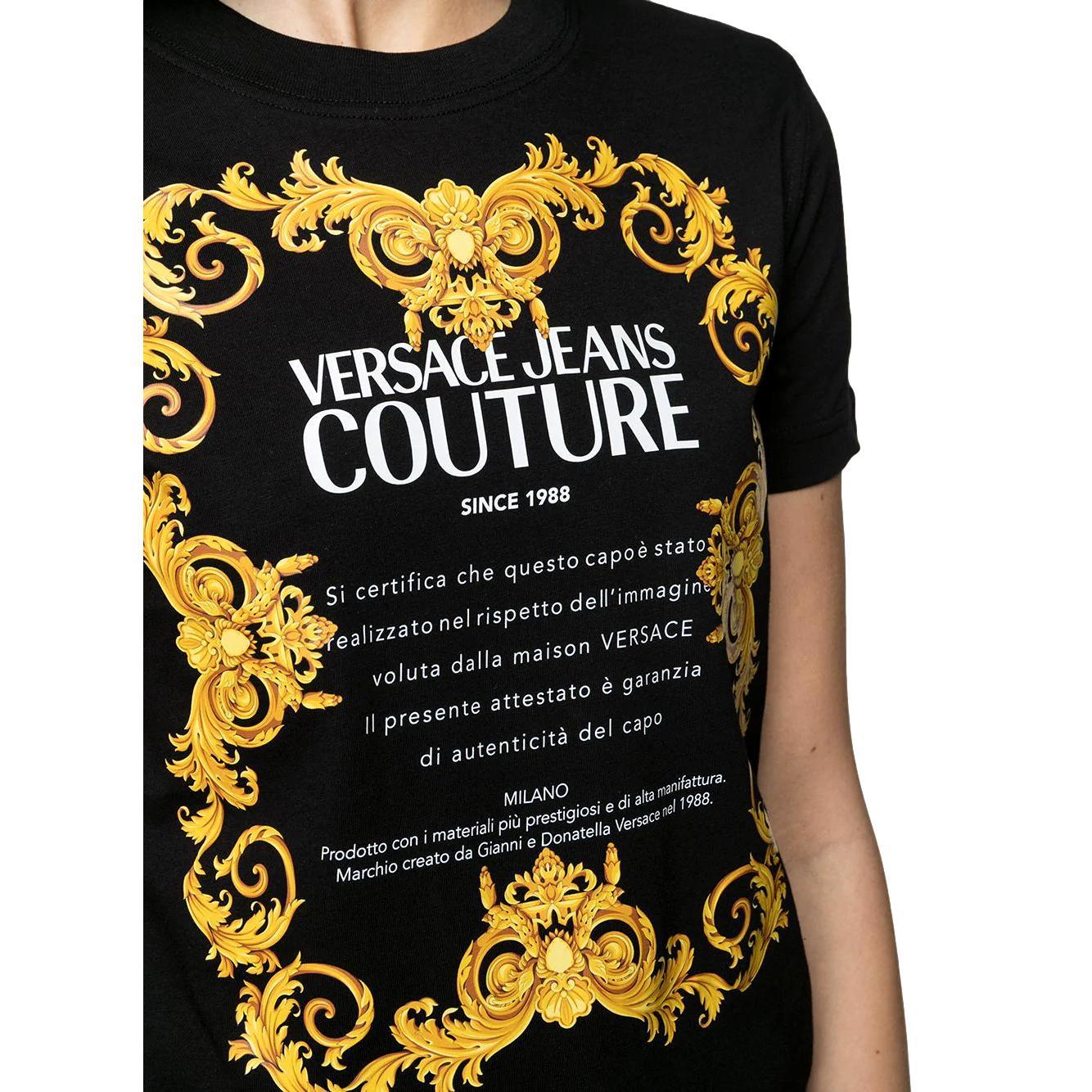 baroque gold logo print cotton T-shirt VERSACE JEANS COUTURE |  | B2HWA7TJ 30319899