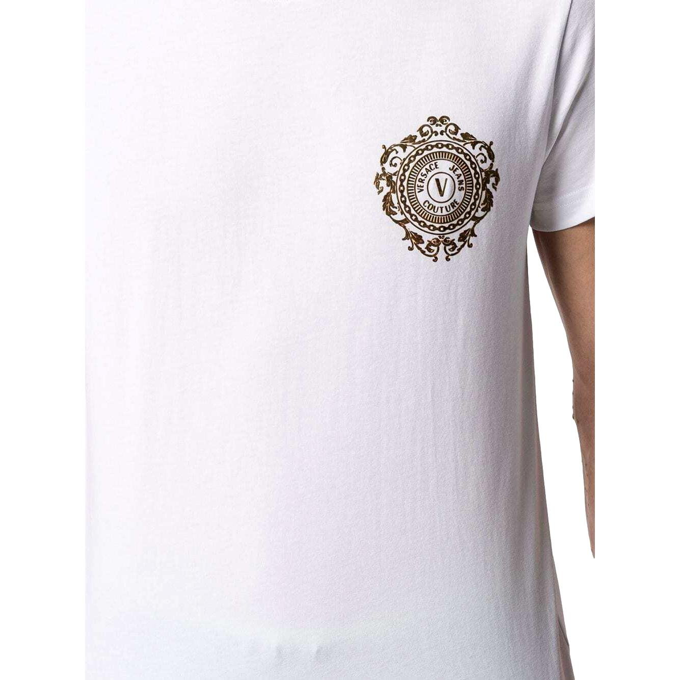 T-shirt in cotone con stampa emblema VERSACE JEANS COUTURE | T-shirt | B3GWA71F 30454K41