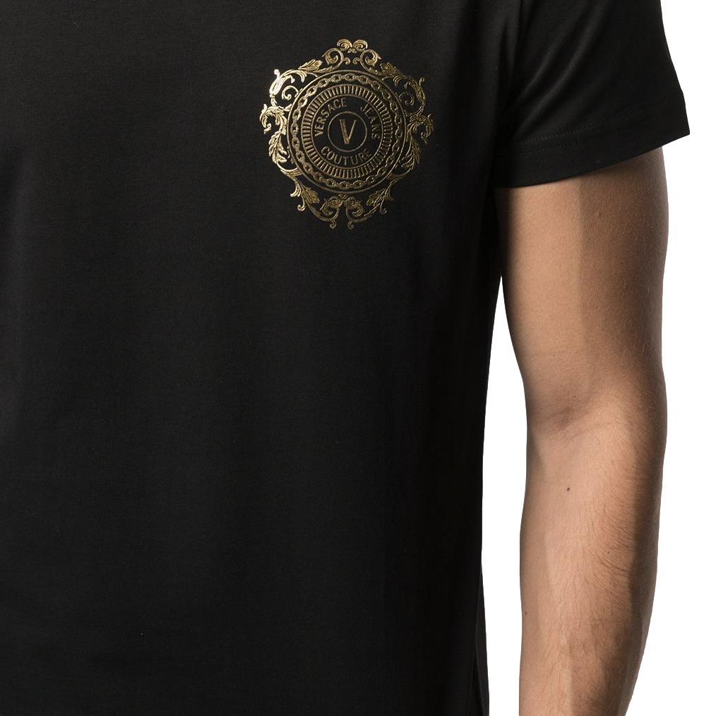 V-Emblem-print cotton T-shirt VERSACE JEANS COUTURE |  | B3GWA71F 30454K42