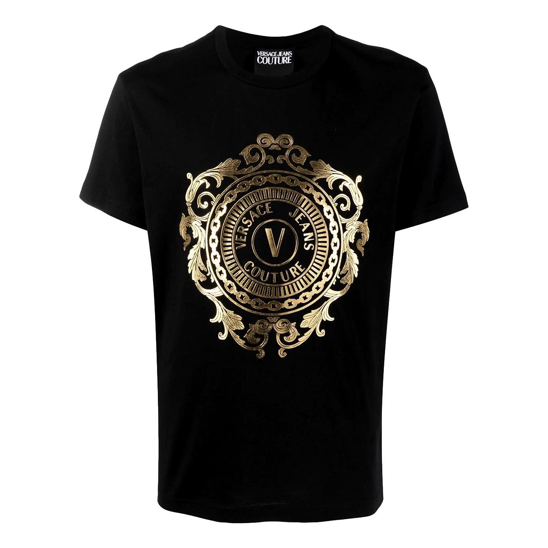 t-shirt con logo emblema oro VERSACE JEANS COUTURE   T-shirt   B3GWA74F 30454K42