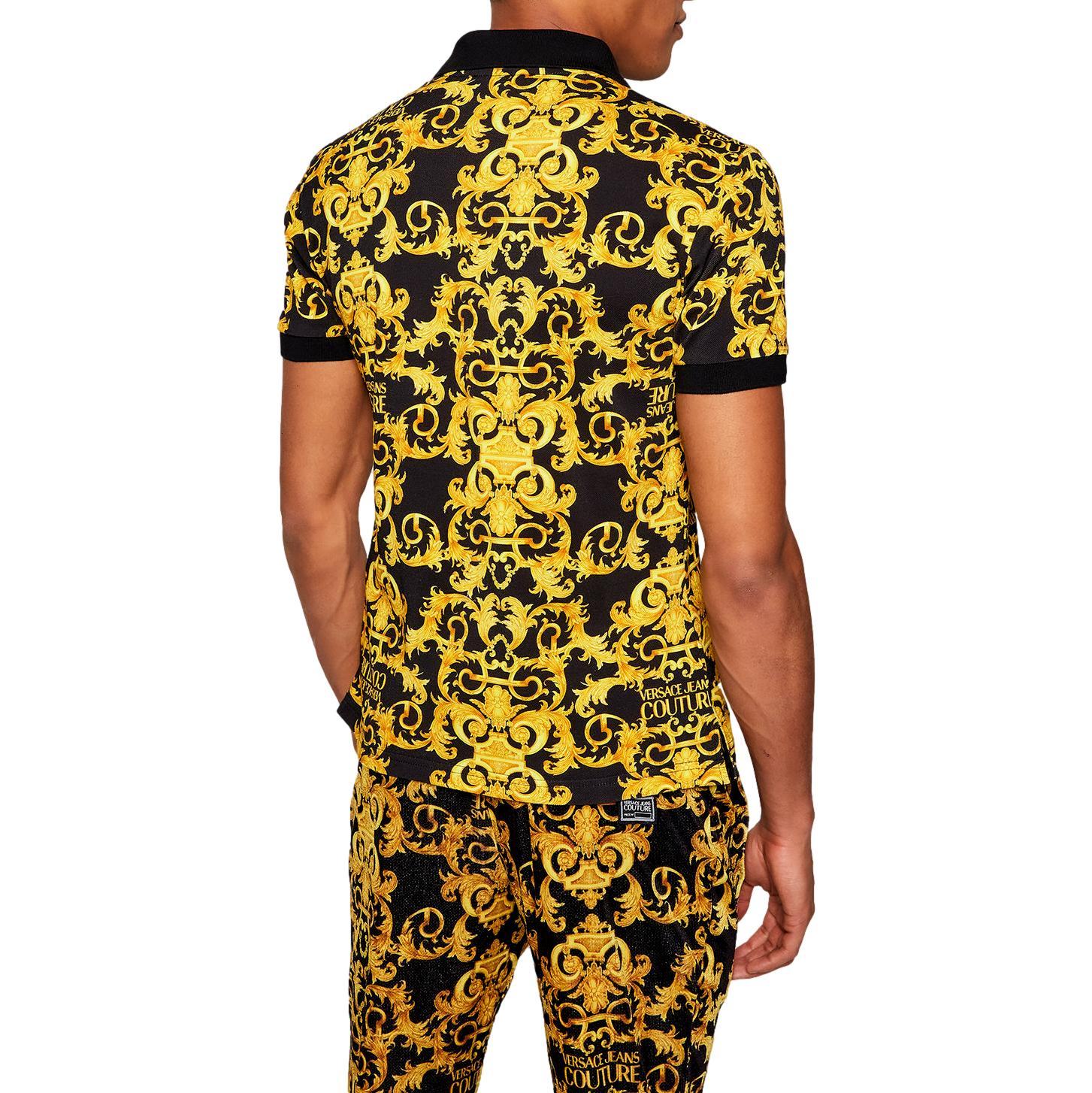 Barocco print polo shirt VERSACE JEANS COUTURE      B3GWA751 S0154899
