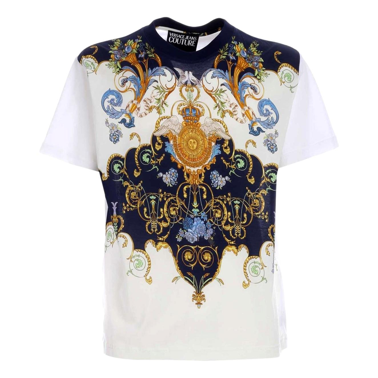 t-shirt con stampa barocca VERSACE JEANS COUTURE | T-shirt | B3GWA7R0 11620003
