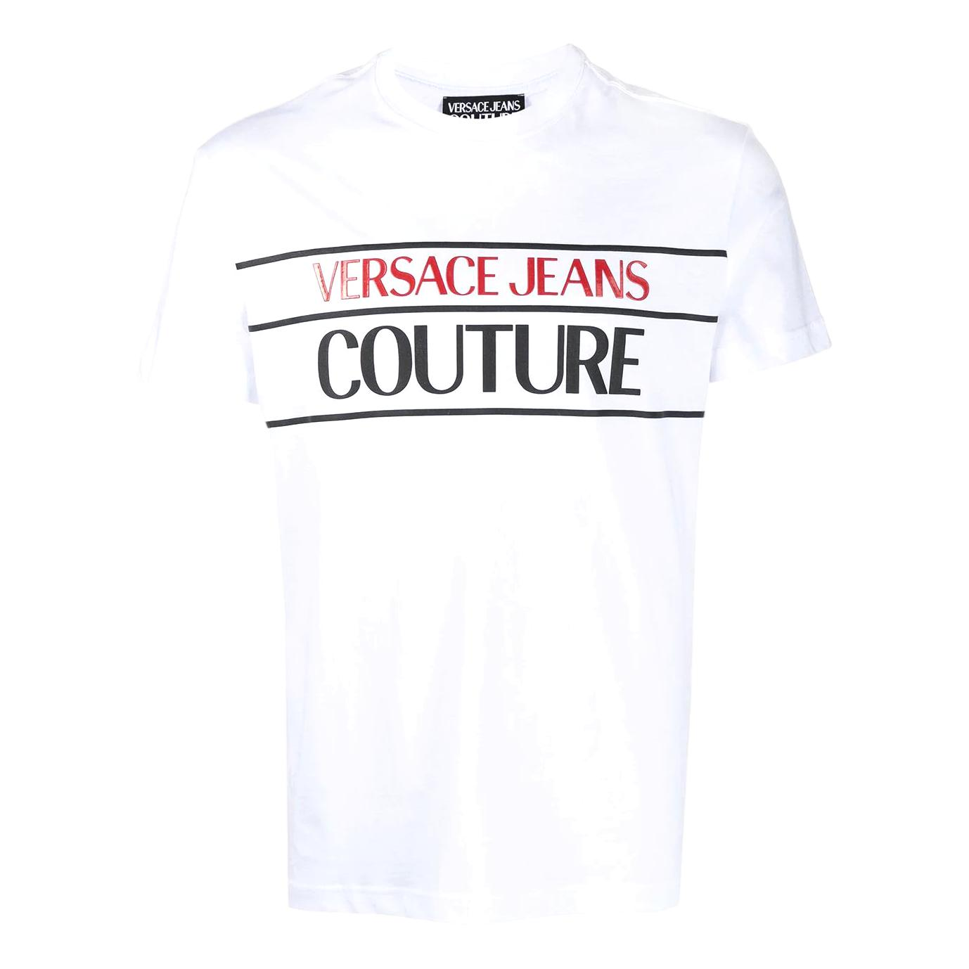 T-shirt in cotone con stampa logo VERSACE JEANS COUTURE | T-shirt | B3GWA7TC 30319003