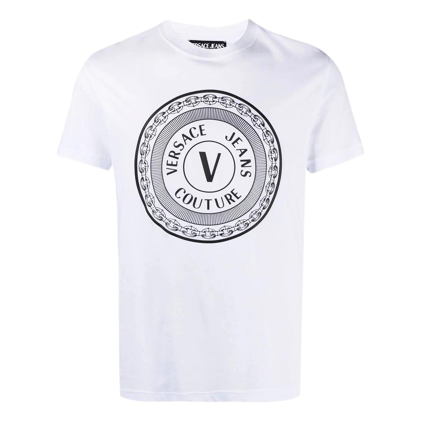 logo-print short-sleeved t-shirt VERSACE JEANS COUTURE |  | B3GWA7TD 30319003