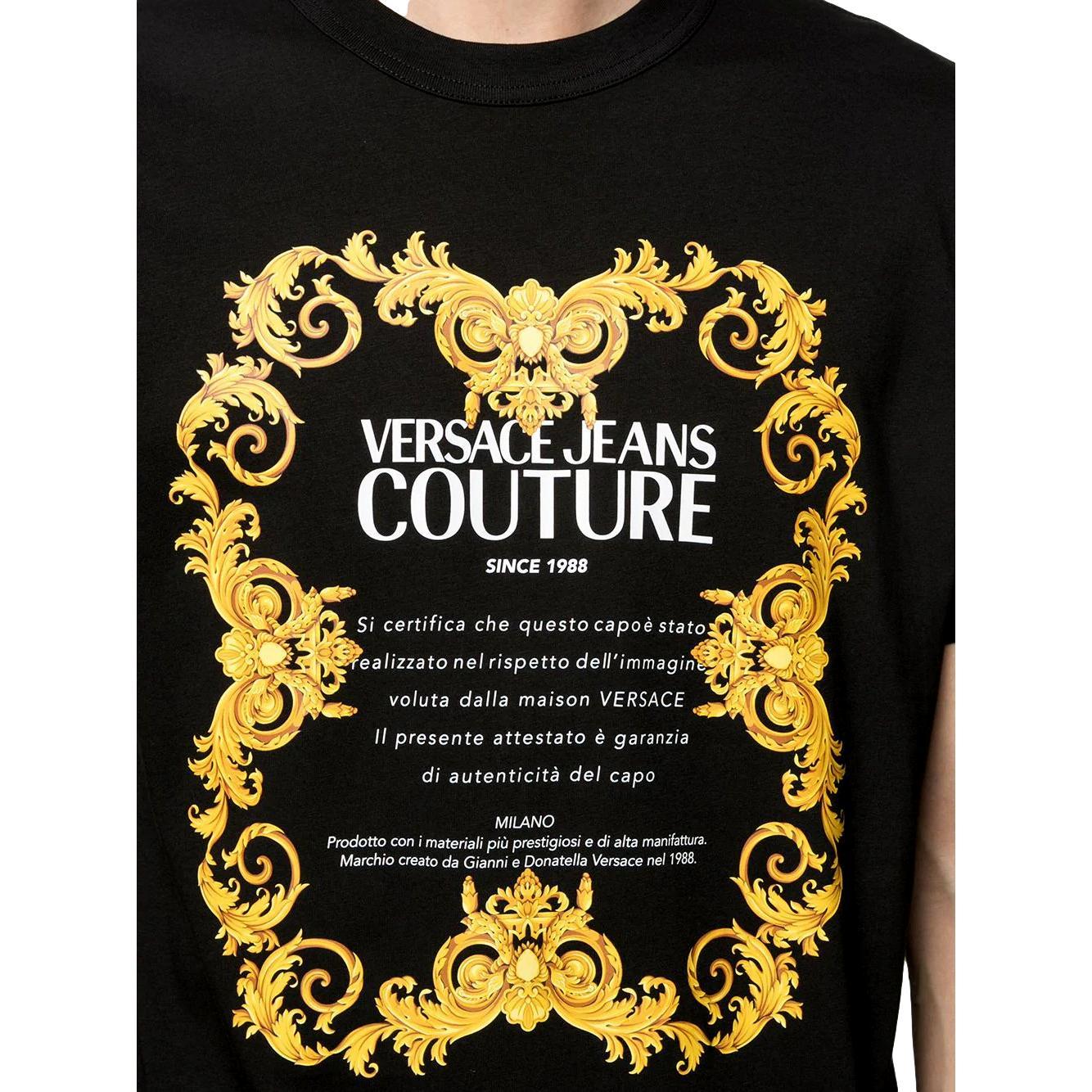 logo-print short-sleeved T-shirt VERSACE JEANS COUTURE |  | B3GWA7TJ 30319K42