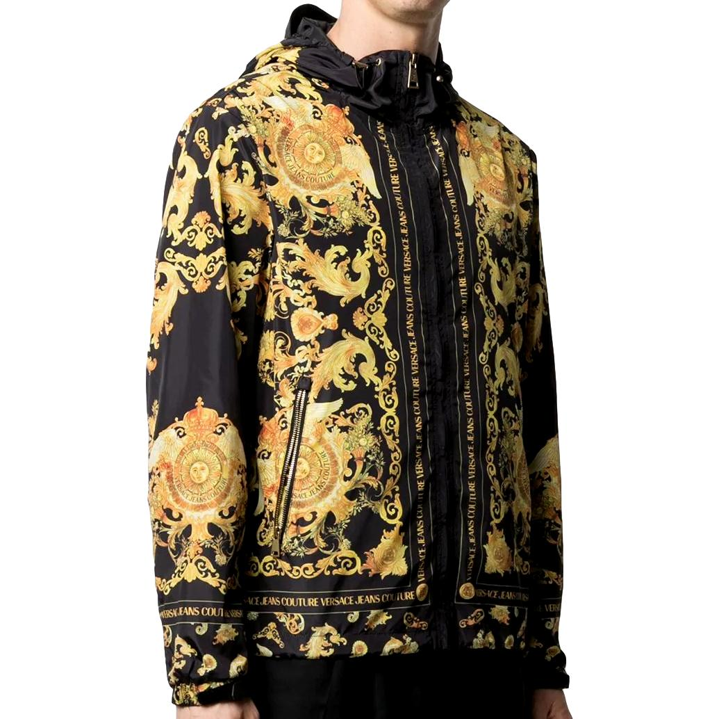baroque-print hooded jacket VERSACE JEANS COUTURE |  | C1GWA9A8 25188899