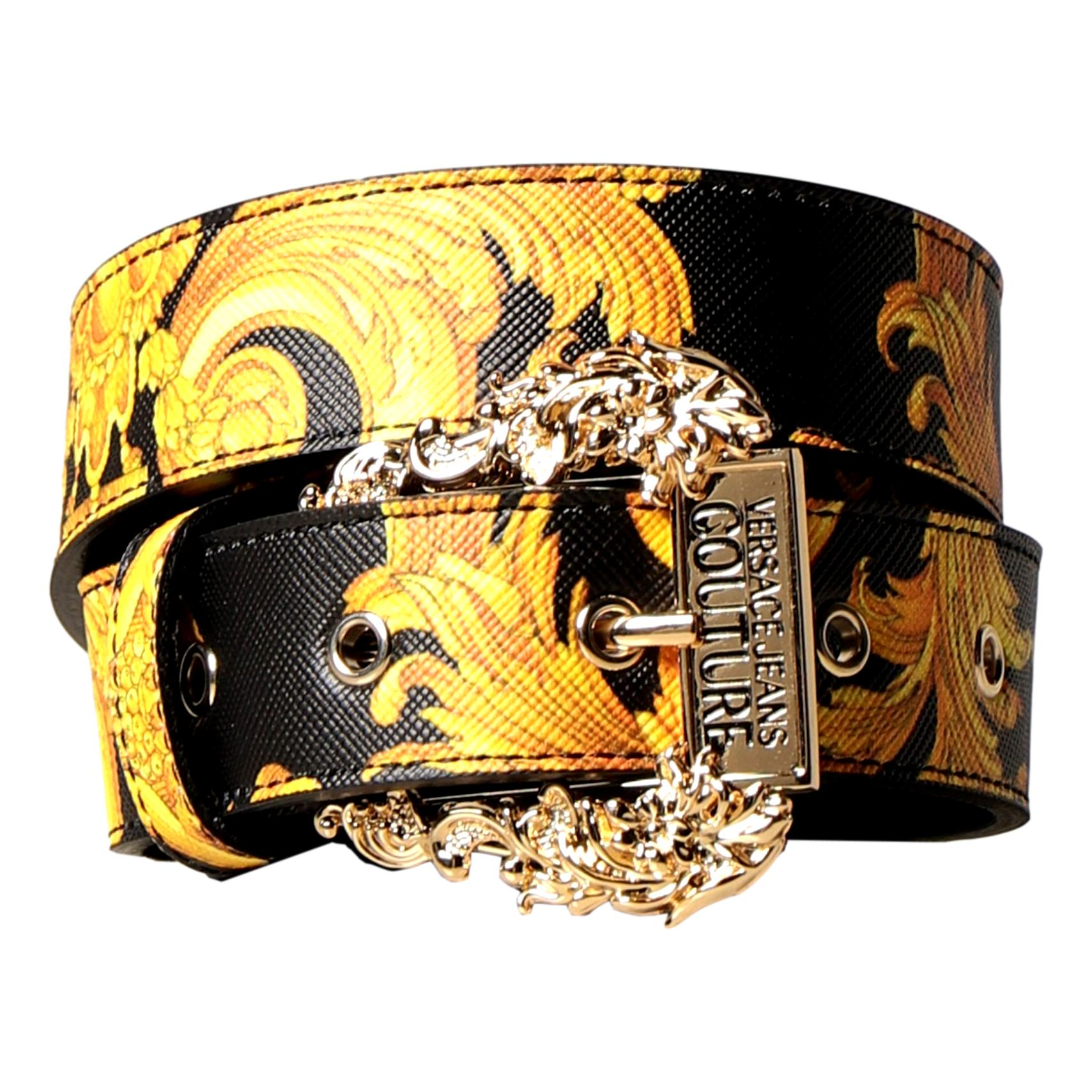 Versace Jeans Couture belt in baroque print synthetic leather VERSACE JEANS COUTURE |  | D8VWAF01 71880M27