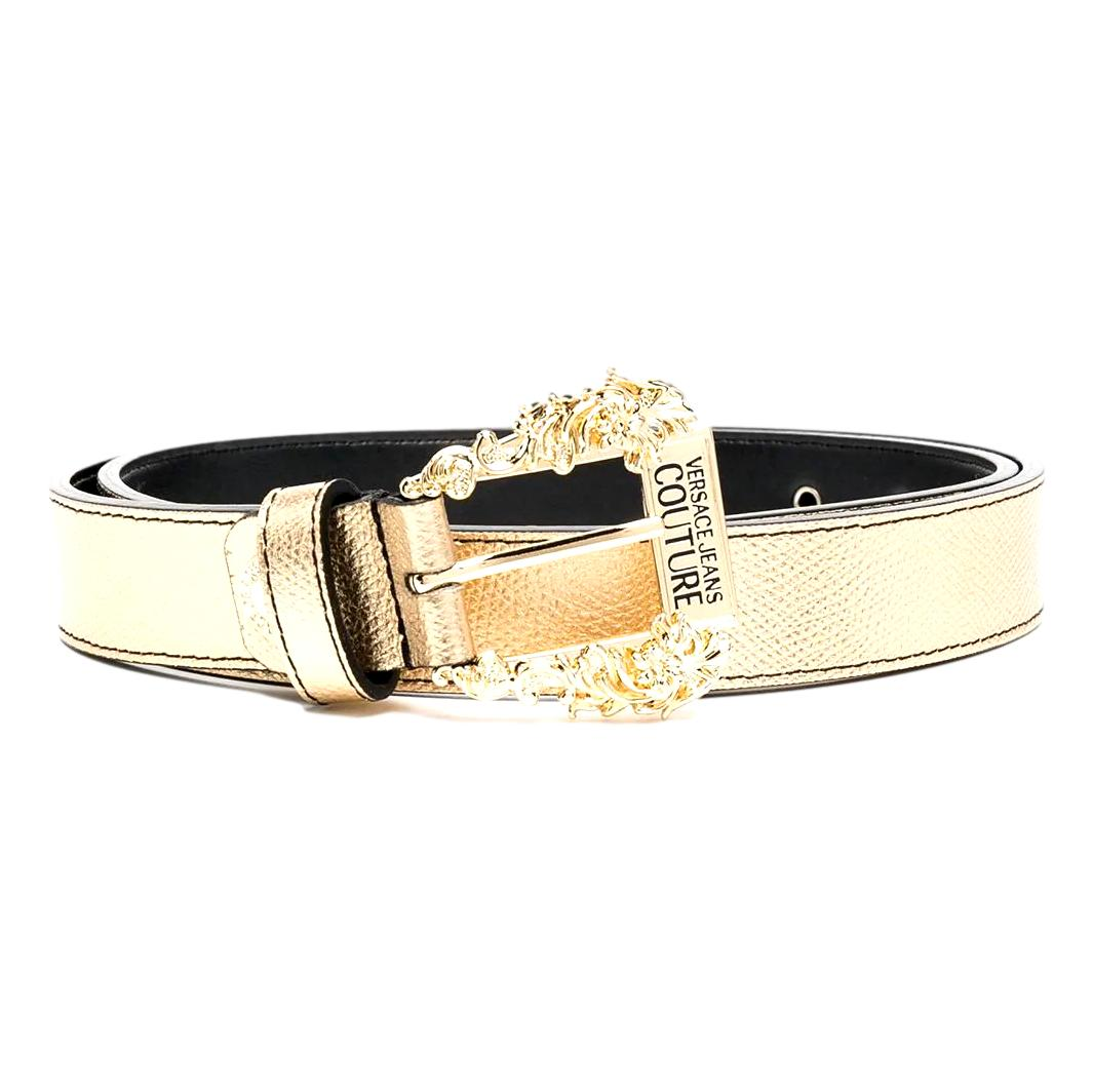 logo metallic-effect belt