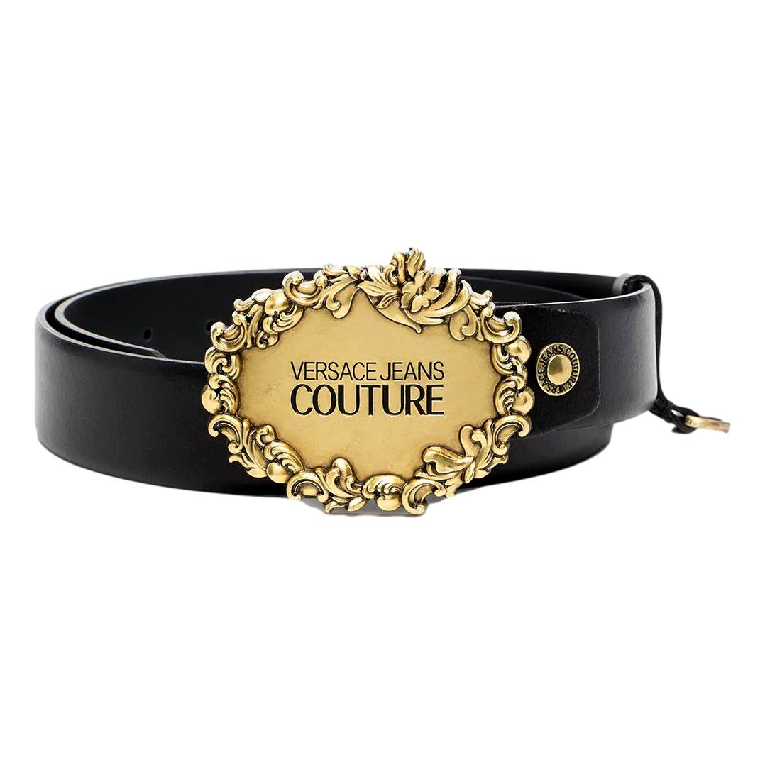 engraved logo buckle leather belt VERSACE JEANS COUTURE |  | D8YWAF05 72011899