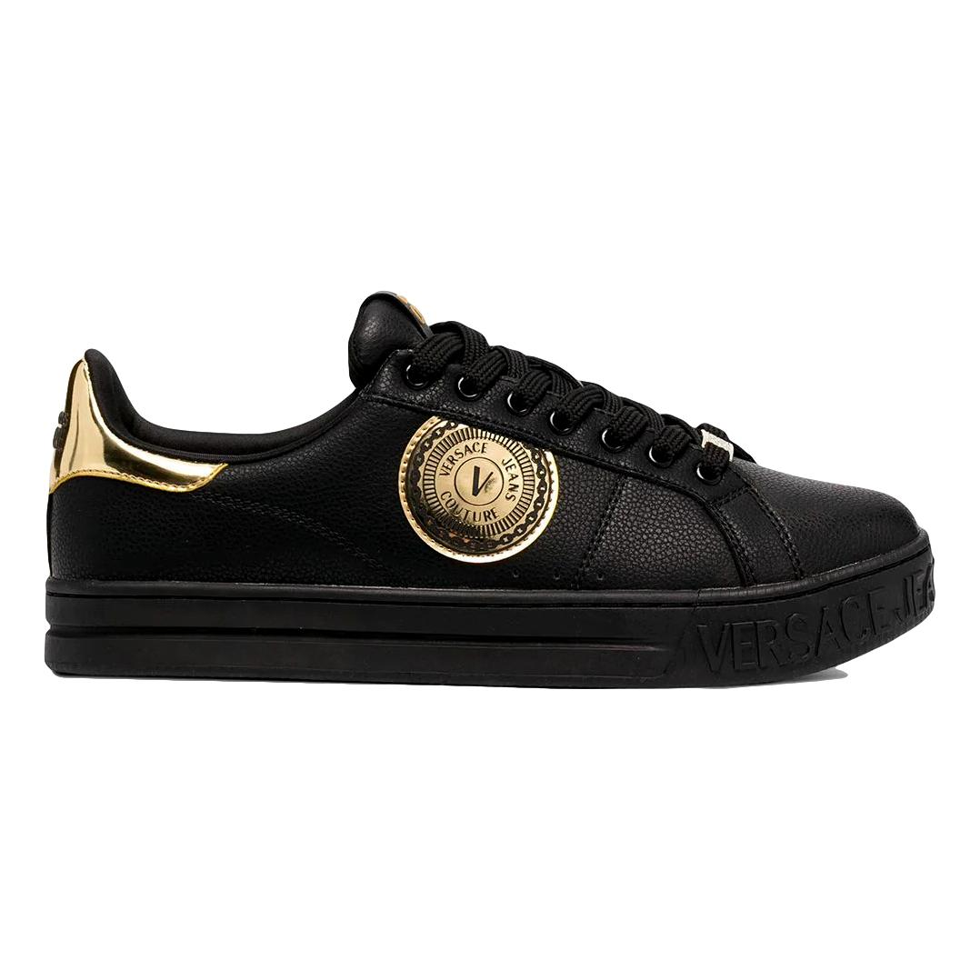 Sneakers con patch logo metallizzato VERSACE JEANS COUTURE | Scarpe | E0YWASK1 71974899