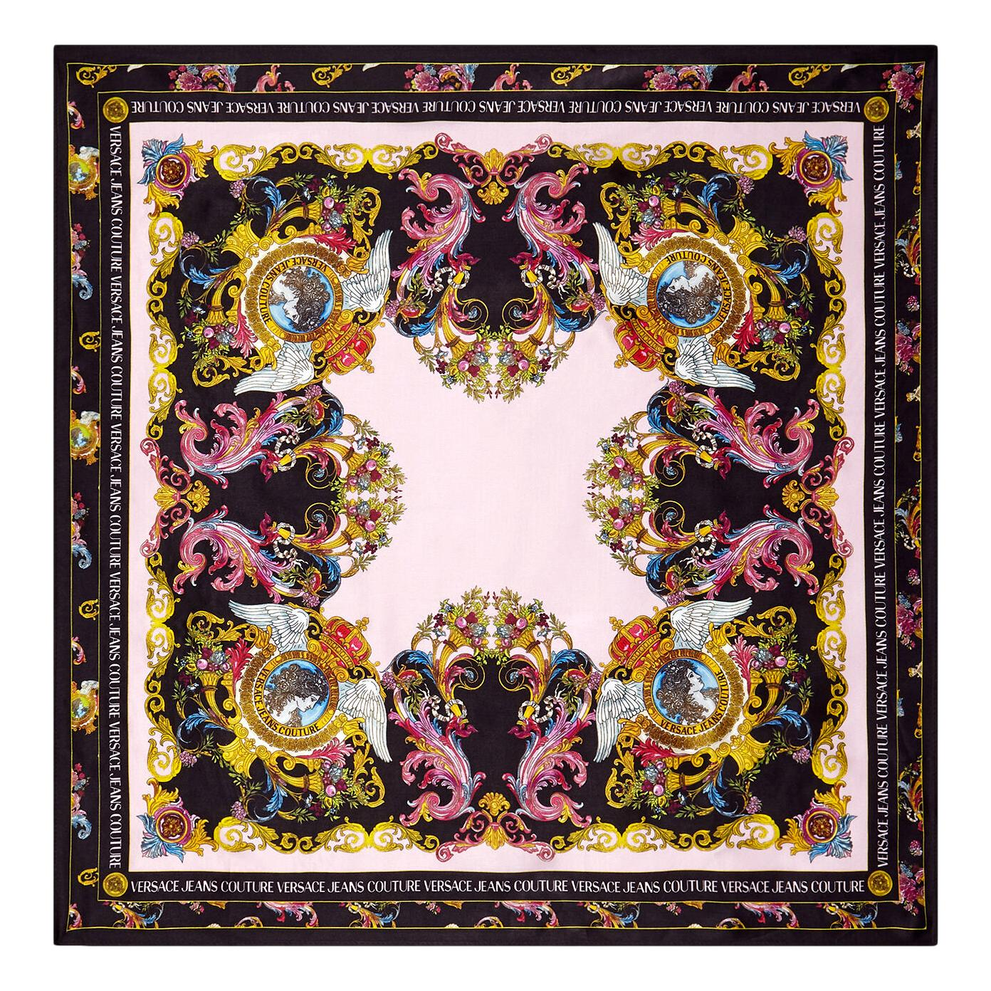 SILK SCARF WITH VERSAILLES PRINT VERSACE JEANS COUTURE |  | E4HWAH01 80152O33