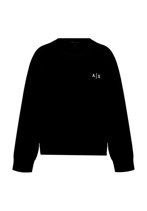 Maglia girocollo con logo ARMANI EXCHANGE | Pullover | 6KYM2J YMT6Z1200