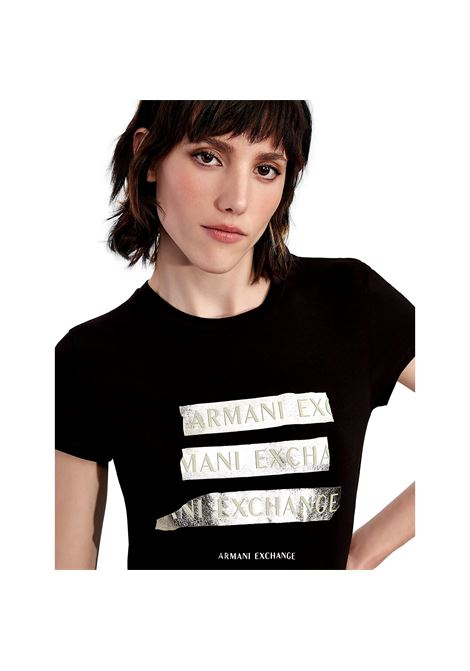 T-shirt con logo oro ARMANI EXCHANGE | T-shirt | 6KYTGM YJC7Z1200