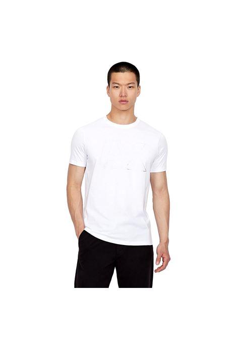 Slim fit T-shirt with shiny maxi-logo ARMANI EXCHANGE |  | 6KZTFA ZJBVZ1100