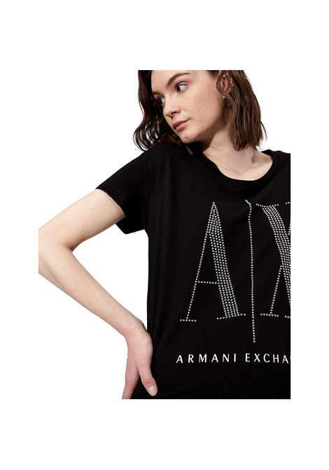 T-shirt boyfriend fit con borchiette applicate ARMANI EXCHANGE | T-shirt | 8NYTDX YJG3Z8218
