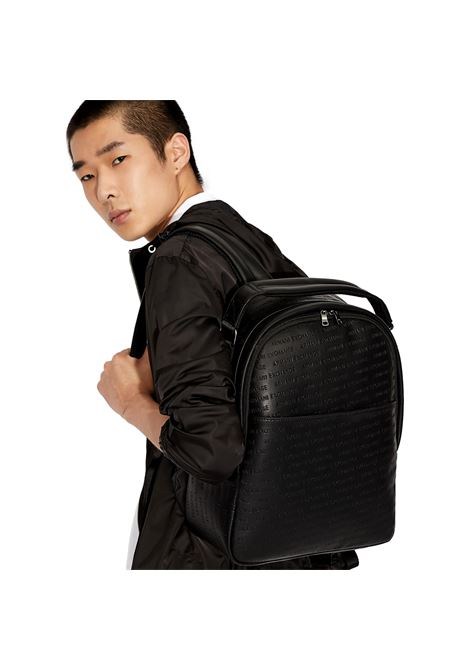 Backpack with all-over logo lettering ARMANI EXCHANGE |  | 952083 CC34800020