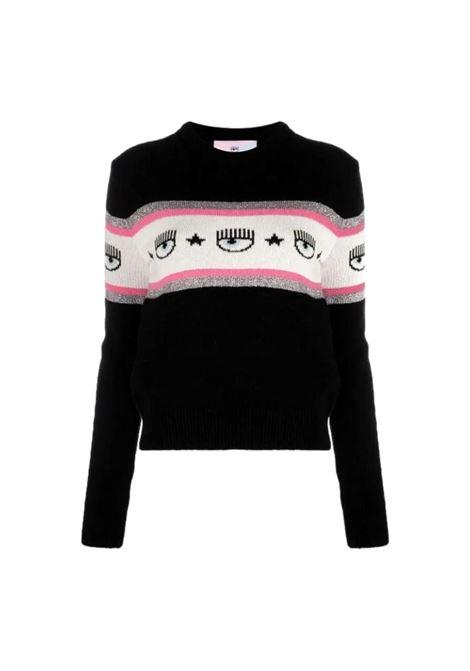 LOGOMANIA print sweater CHIARA FERRAGNI |  | 71CBFM23 CMP00899