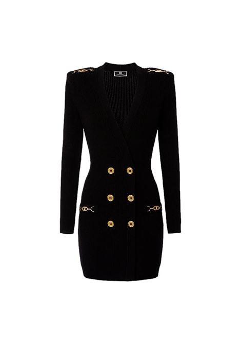 Abito Robe manteau in maglia con dettagli oro ELISABETTA FRANCHI | Abiti | AM41S16E2110