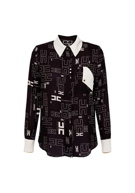 Camicia in georgette con con stampa logo bicolor ELISABETTA FRANCHI | Camicie | CA33216E2685
